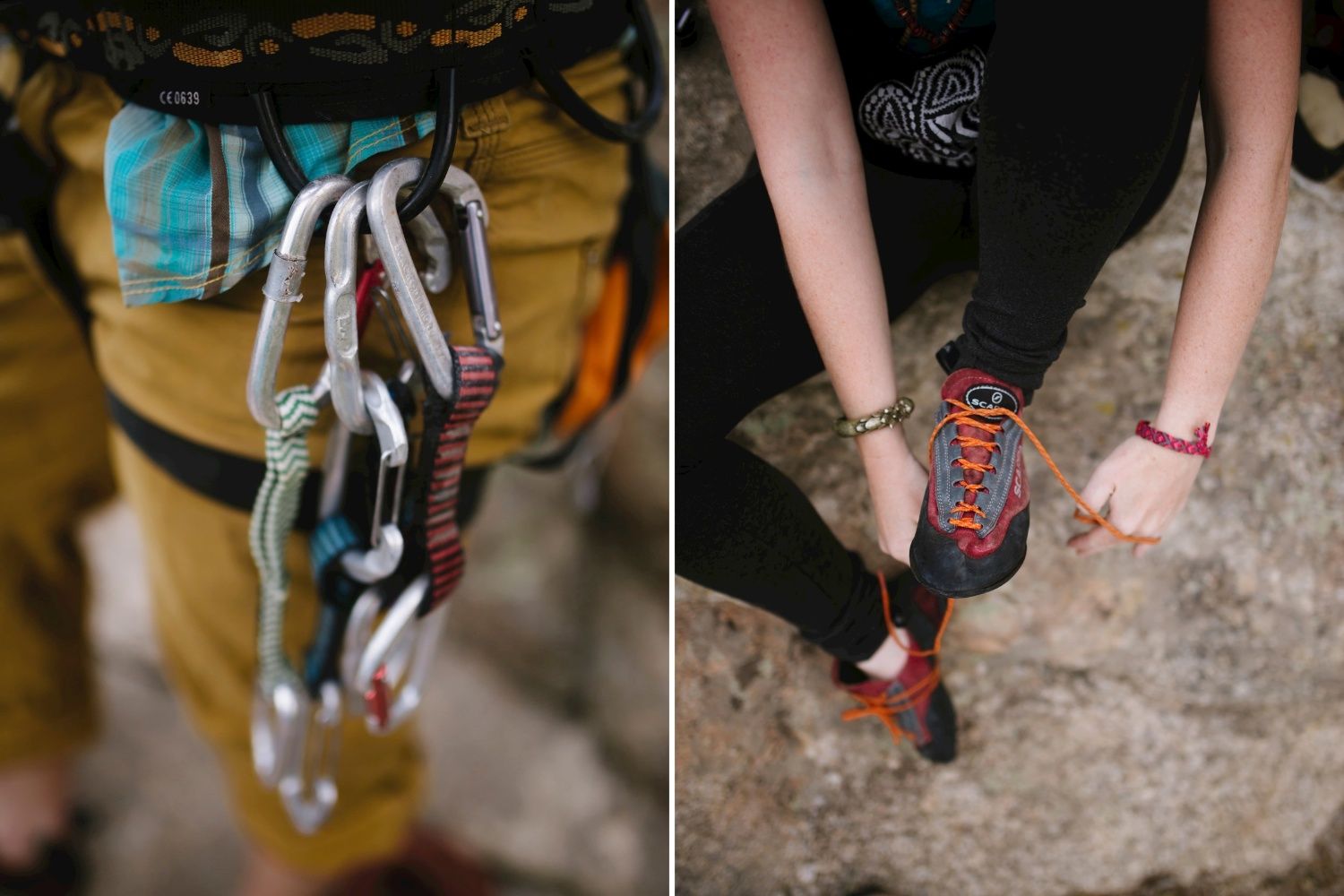 Adventurous and epic rock climbing engagement photos by Maddie Mae Photography