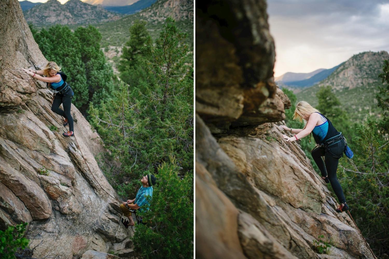 Adorable rock climbing engagement photoshoot // Maddie Mae Photography