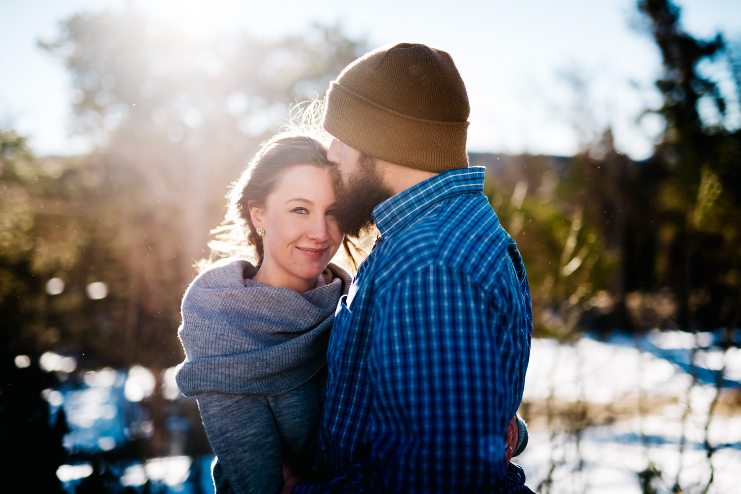 Colorado engagement photographer // Winter Engagement Session // Maddie Mae Photography