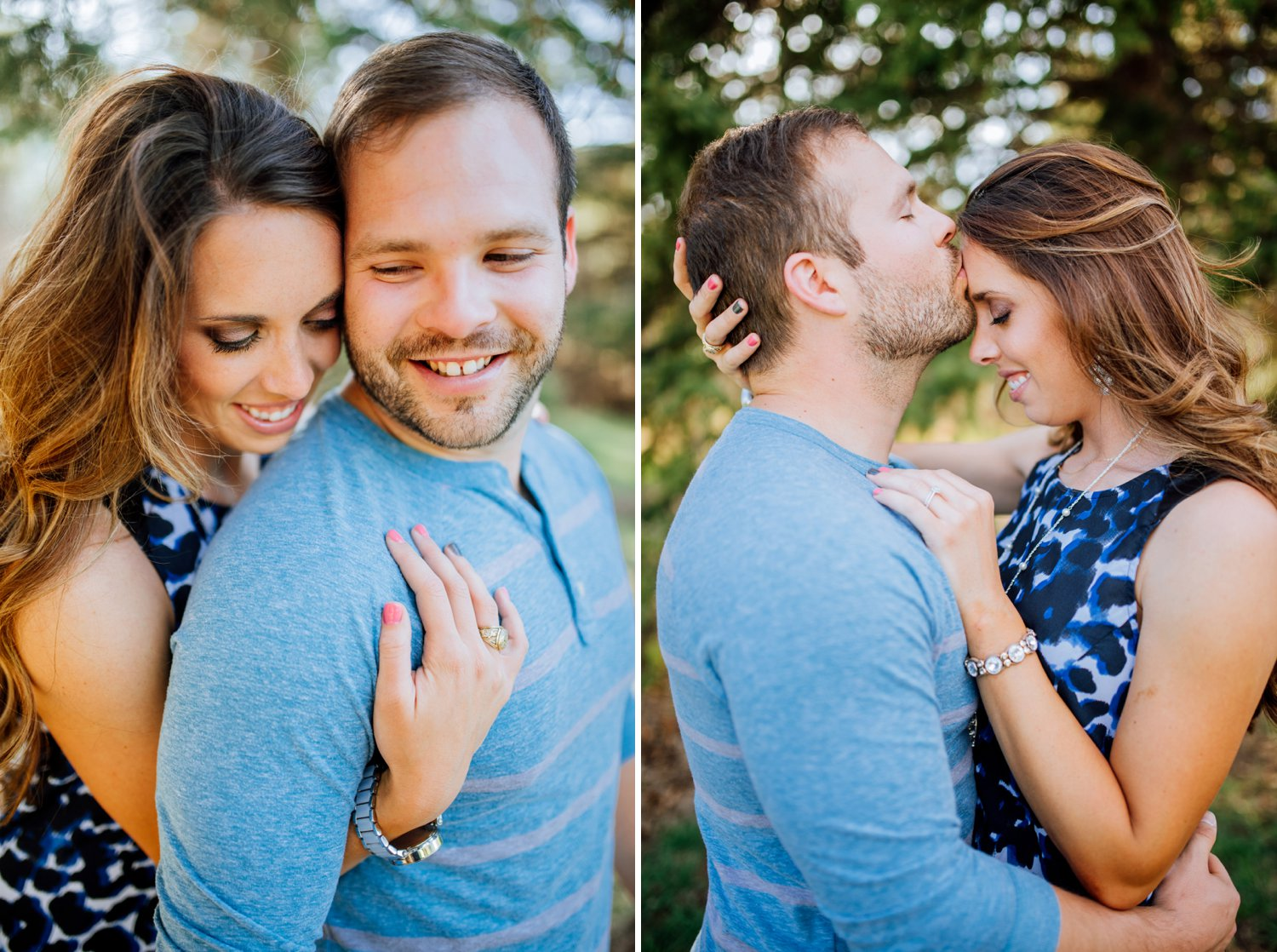 A close embrace during an engagement shoot in Colorado by Maddie Mae Photography.