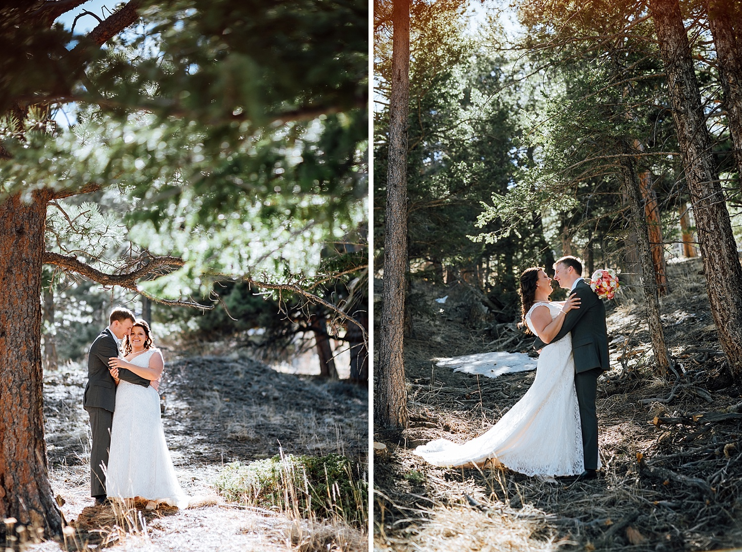 I would love to have my wedding somewhere near the Rocky Mountains.. maybe Estes Park? I love these wedding photos - So adventurous and fun!Photo by Maddie Mae Photography