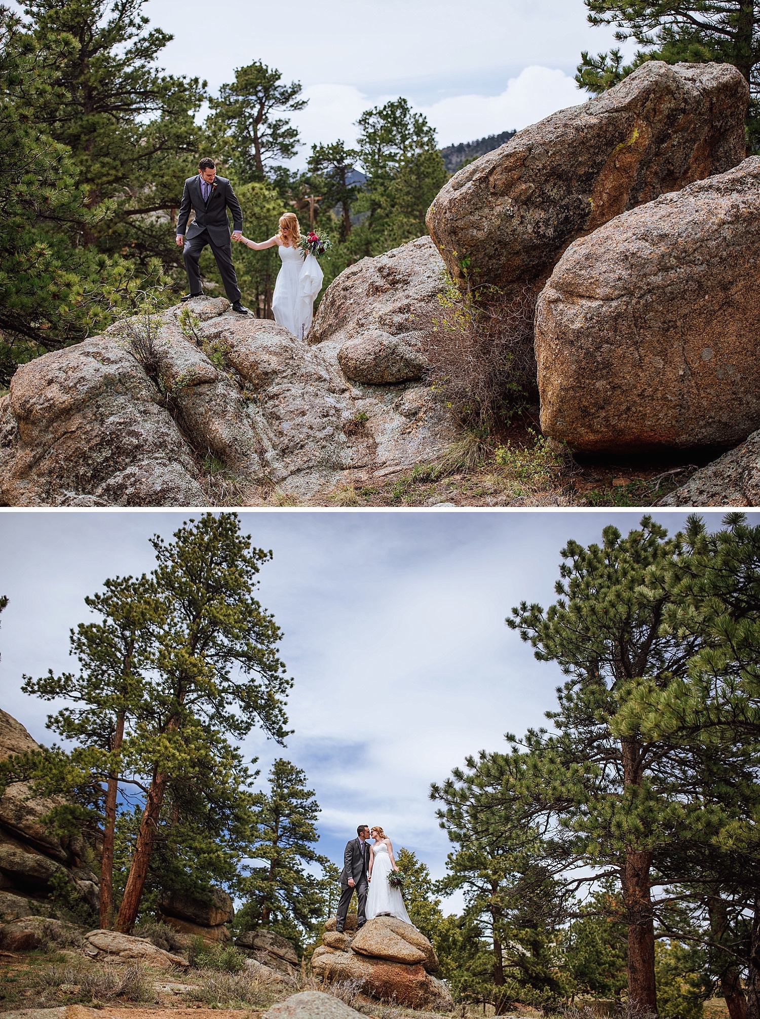 A mountain wedding would be so perfect! Hiking and climbing on top of some big boulders would make for some really cool wedding photos!! Photo by Maddie Mae Photography