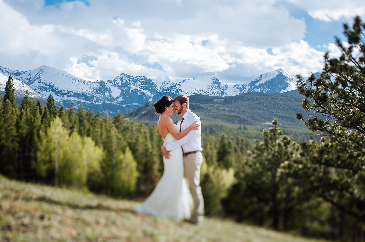 Rocky Mountain National Park is a wonderful place to have a Mountain wedding! Photo by Maddie Mae Photography
