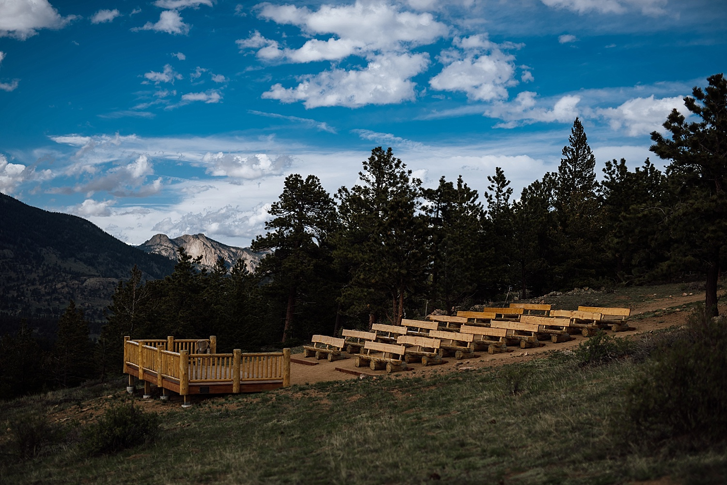 Overlook Chapel at the YMCA of the Rockies is a wonderful venue for an intimate wedding. Photo by Maddie Mae Photography