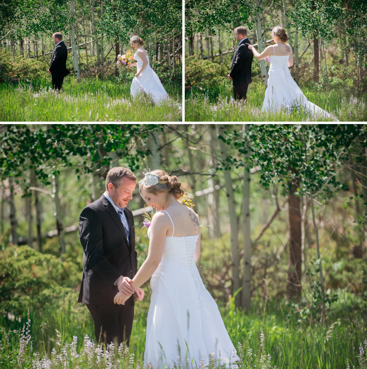 It was be amazing to have a first look in the middle of a meadow in the mountains. This is so beautiful! Photo by Maddie Mae Photography
