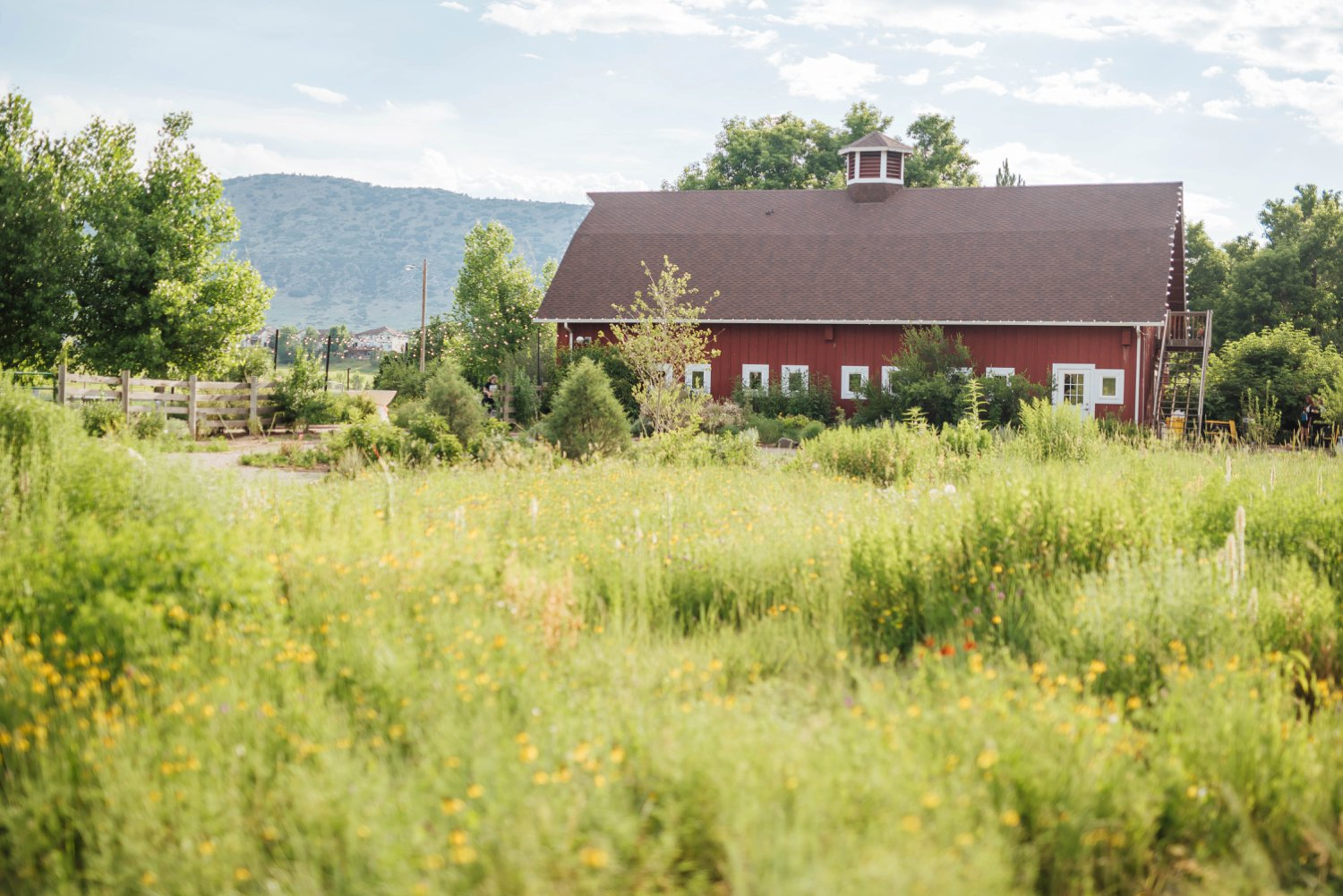 Chatfield farm is famous for its bright red barn that wedding receptions can be held in.Photo by Maddie Mae Photography