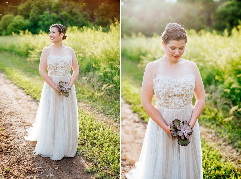 Beautiful bridal photos at Denver Botanic Gardens in Littleton, Colorado.Photo by Maddie Mae Photography