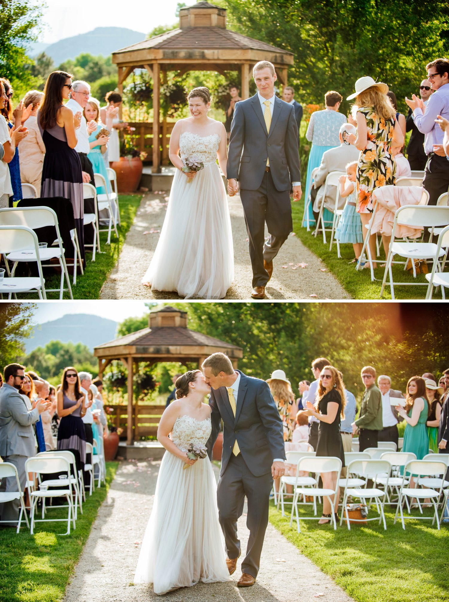 The outdoor chapel at the denver botanic gardens has a gazebo where the ceremony takes place.Photo by Maddie Mae Photography