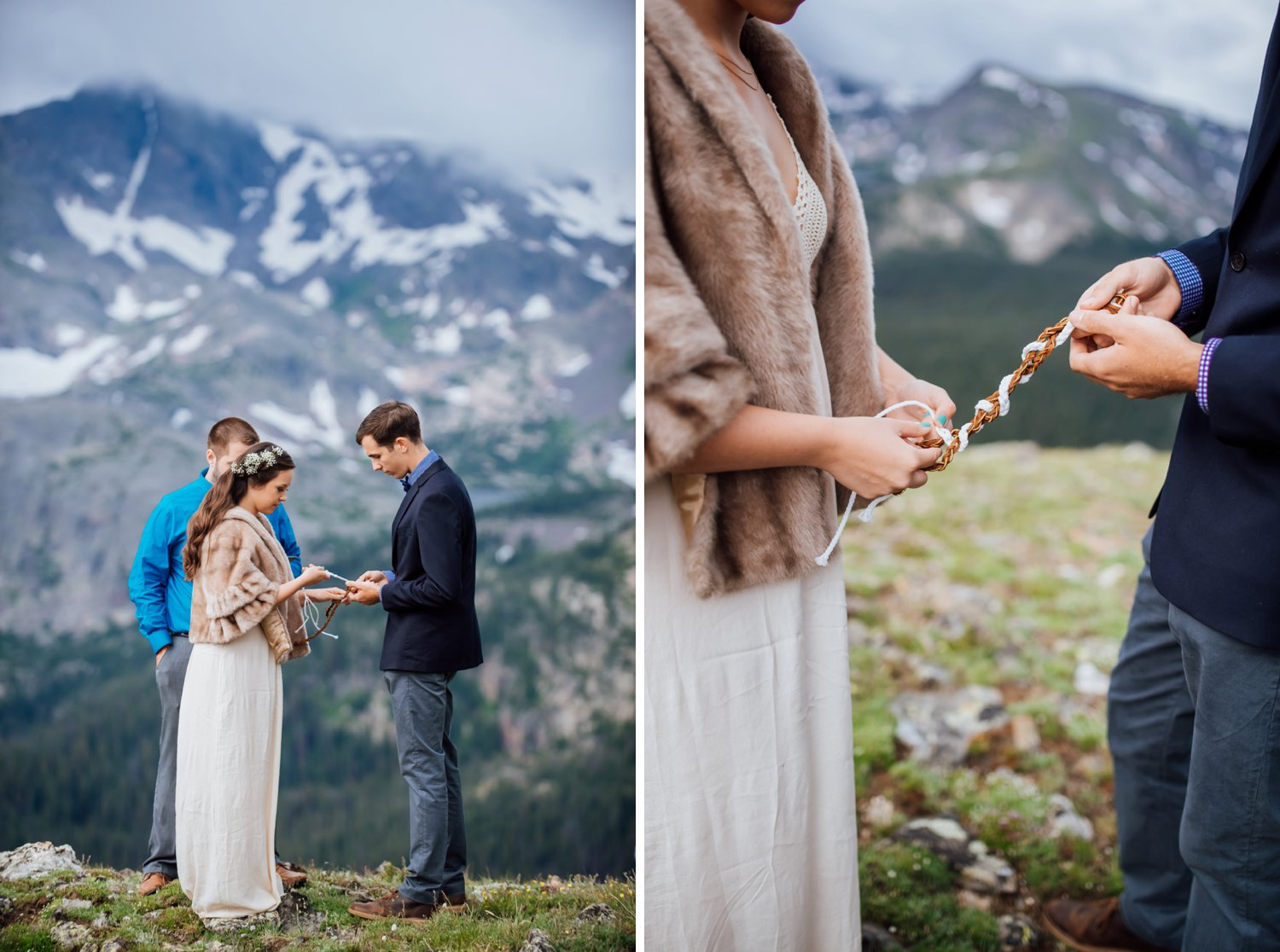 This is so unique! Incorporate a braid ceremony in the actual wedding ceremony! Photo by Maddie Mae Photography