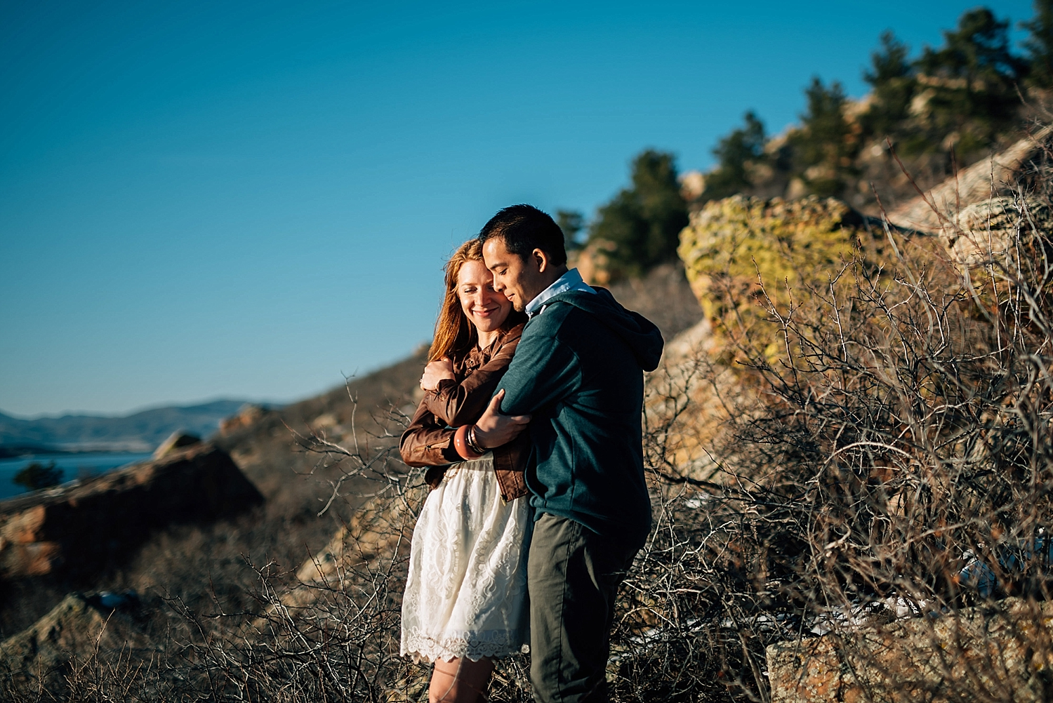 Horsetooth reservoir is so beautiful! I would love to have my engagement photos taken here!Photo by Maddie Mae Photography