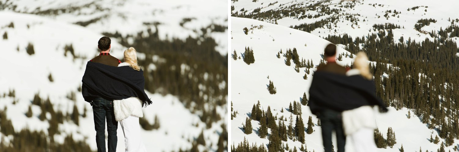 Gorgeous photography of a couple eloping in Keystone, Colorado.| Photography for adventurous couples by Maddie Mae