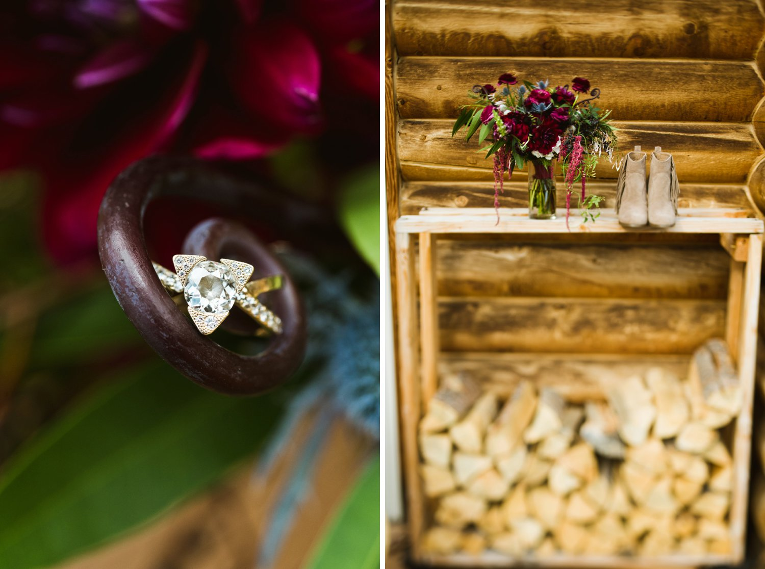 Gorgeous, rustic wedding details. Love that mountain vibe up in Black Hawk, Colorado! | Photo by Maddie Mae
