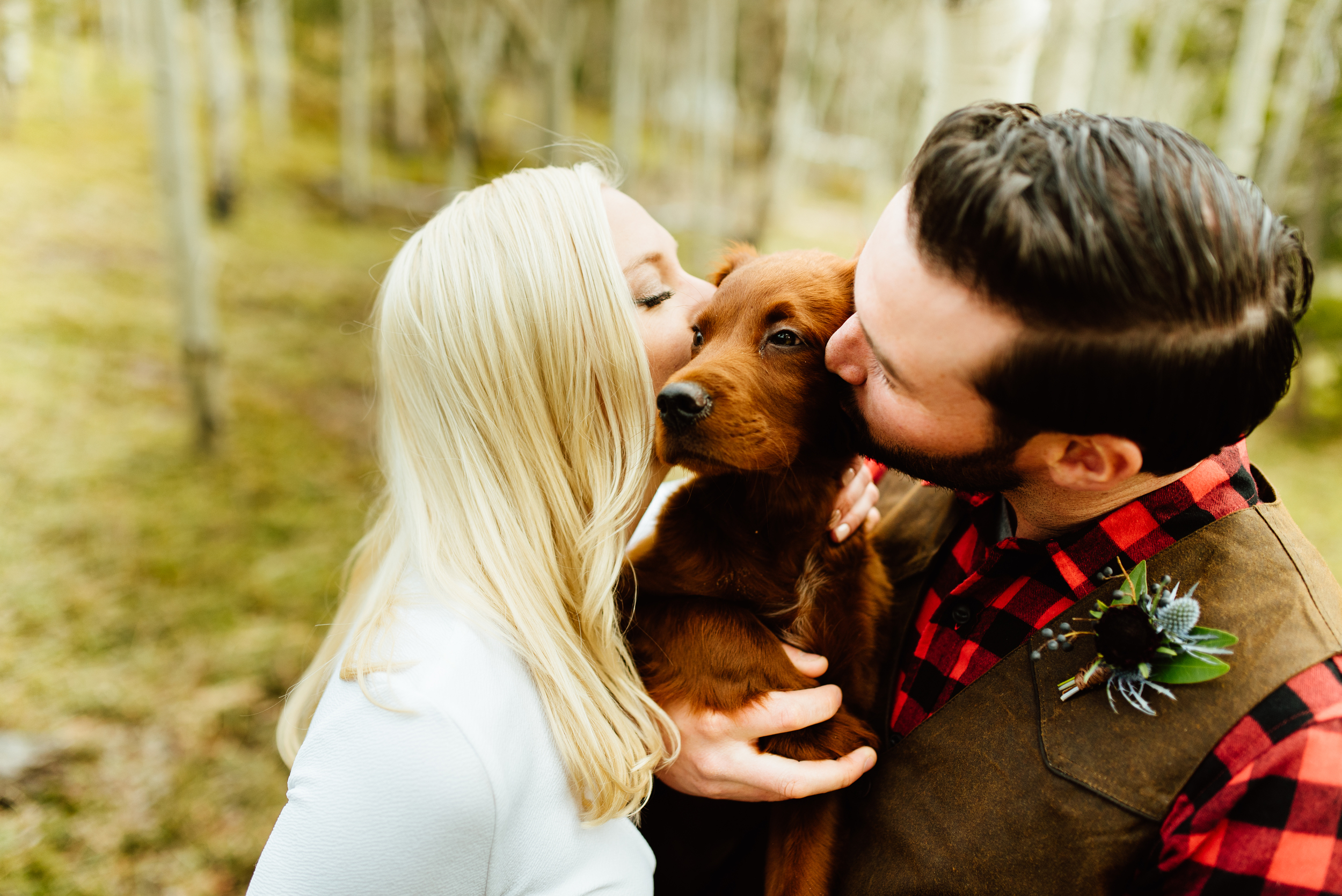 This adventurous Colorado couple eloped with their new puppy! Such an adventurous and romantic mountain wedding in Black Hawk Colorado. Captured by fearless Colorado Rocky Mountain elopement photographer, Maddie Mae Photo.