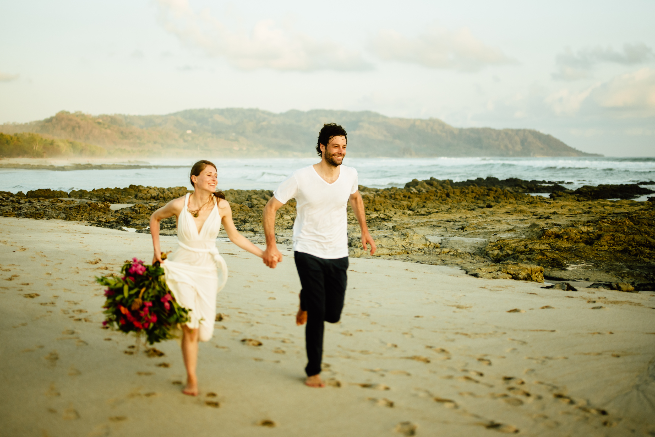 Ahh...to run on Costa Rica's rugged beaches with my new husband... I can't wait for our elopement on the Nicoya Peninsula!!!  Destination wedding photography by adventure elopement photographer, Maddie Mae.