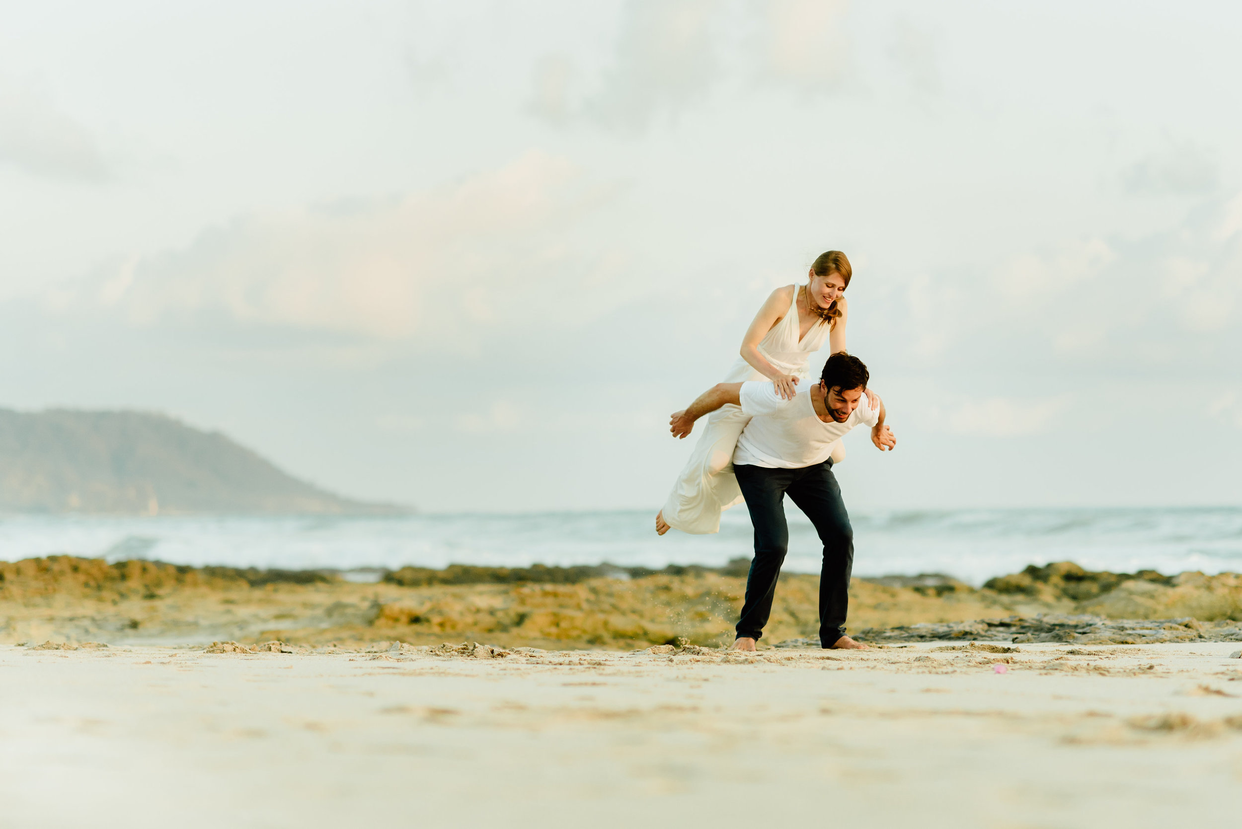 Stefan and Martina might be the cutest bride and groom I have ever seen! I absolutely love their photos from their destination beach elopement on Santa Teresa Beach!  Intimate wedding photography by intimate Costa Rica destination wedding photographer, Maddie Mae.