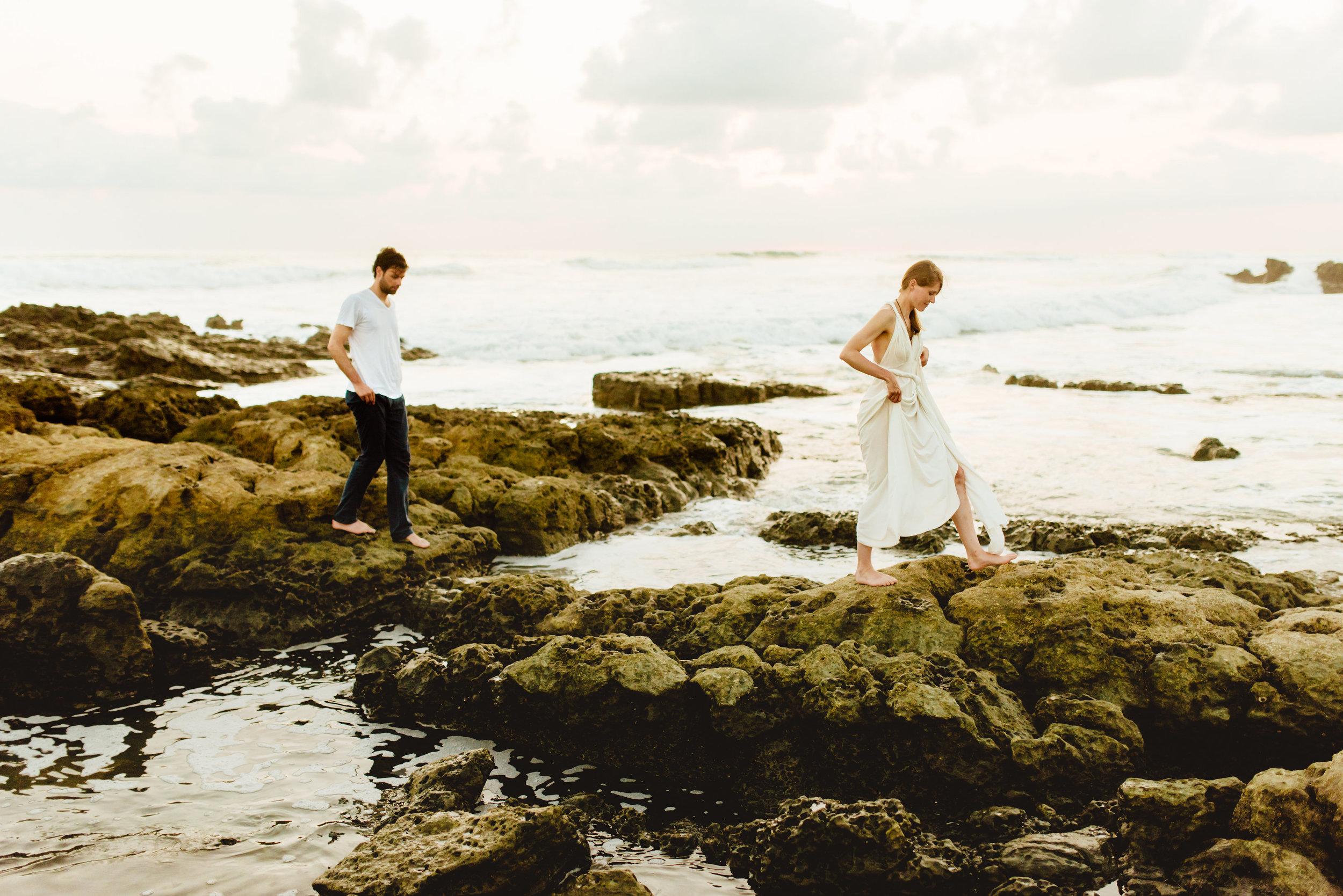 Martina's flowy, ivory dress makes for the perfect beach wedding dress! Casual destination weddings are definitely my favorite!  Beach wedding photography by destination wedding photographer, Maddie Mae.