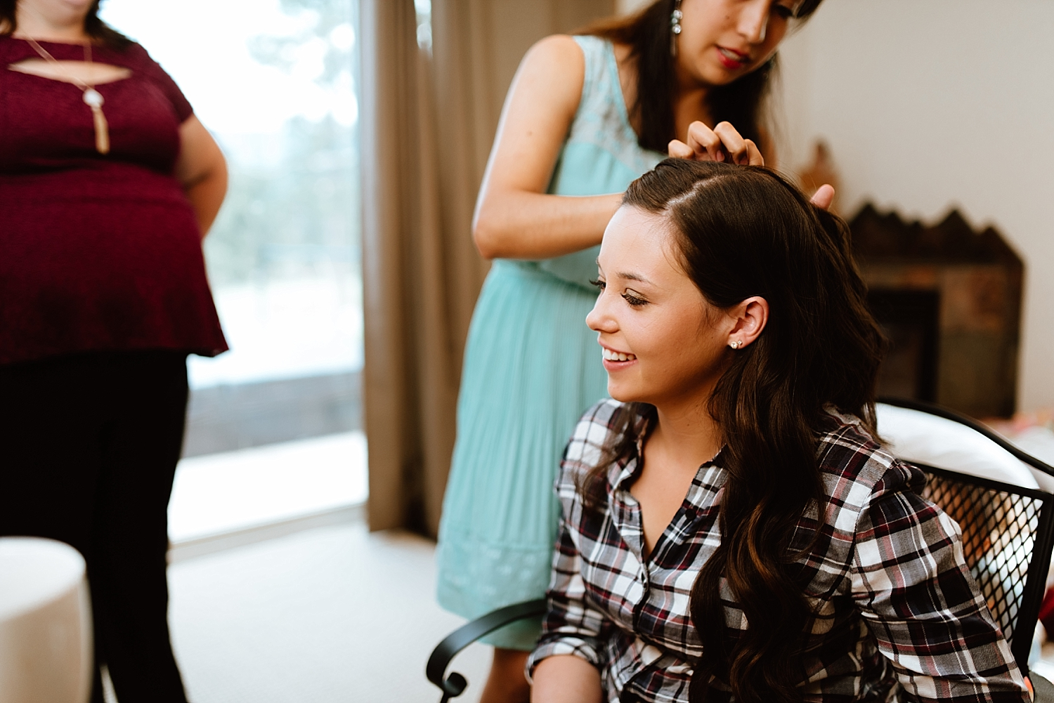 These getting ready photos are so adorable! I love this wedding style for long hair! | Mountain elopement photos by adventure elopement photographer, Maddie Mae.