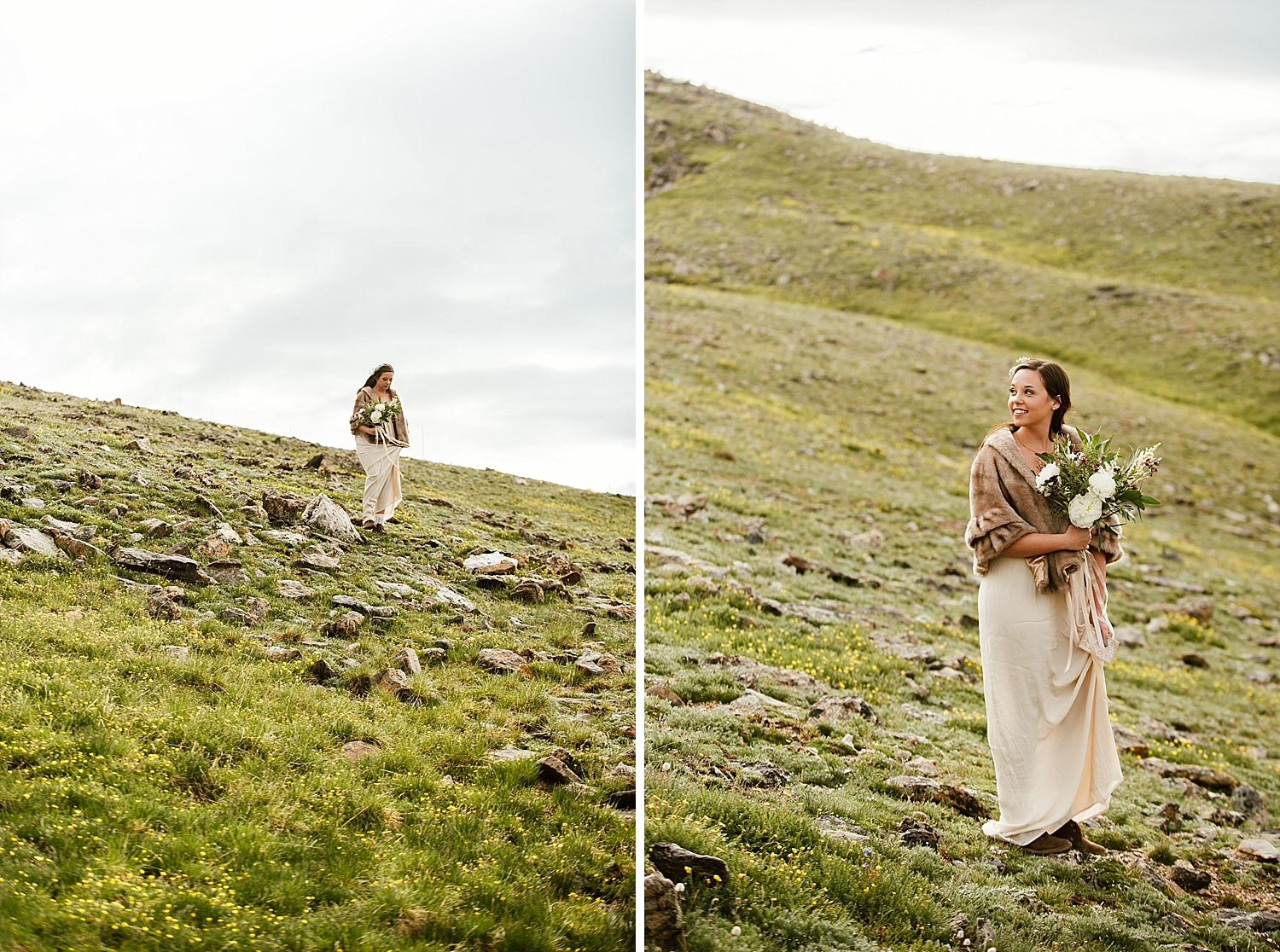 How incredible is this tundra wedding? Winter weddings have always been my favorite, but this one in particular is absolutely stunning! | Trail Ridge Road elopement photos by RMNP wedding photographer, Maddie Mae.
