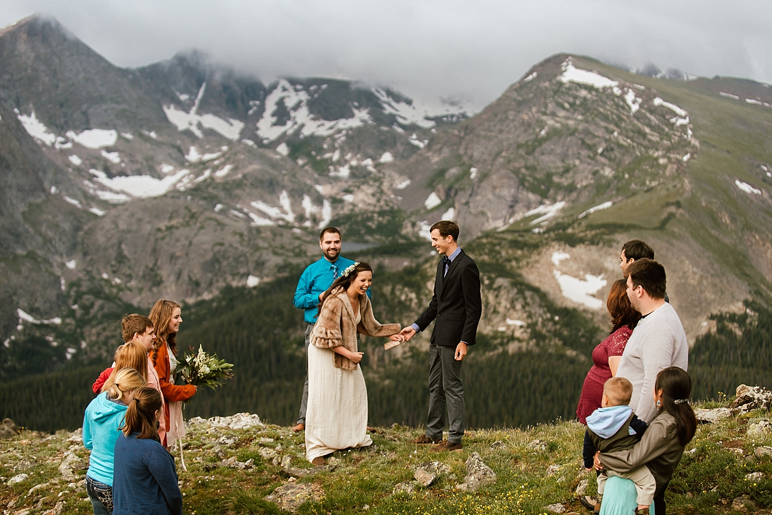 I love intimate weddings and small elopements like Jessica and Edward's! I can't wait for my Colorado wedding in Estes Park! | Trail Ridge Road elopement photos by Rocky Mountain National Park adventure wedding photographer, Maddie Mae.