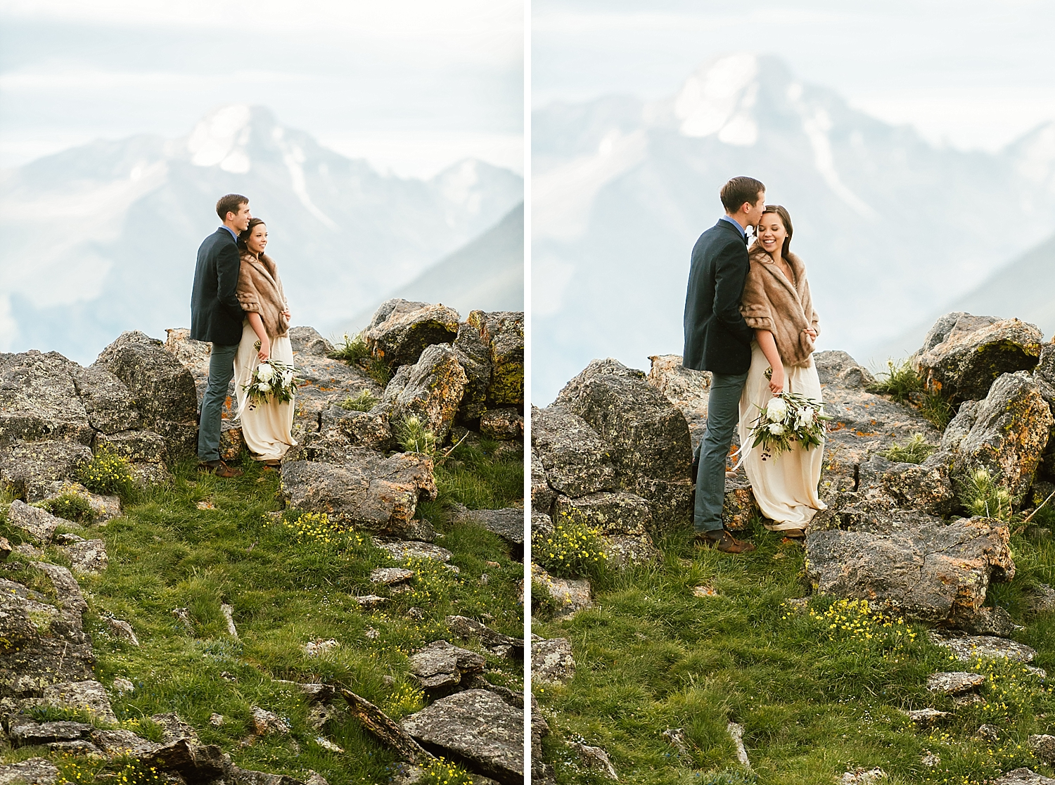 Wow these mountain elopement photos are insane! I can'r get enough of Jessica and Edward's RMNP elopement pictures! | Rocky Mountain National Park wedding photos by Estes Park elopement photographer, Maddie Mae.