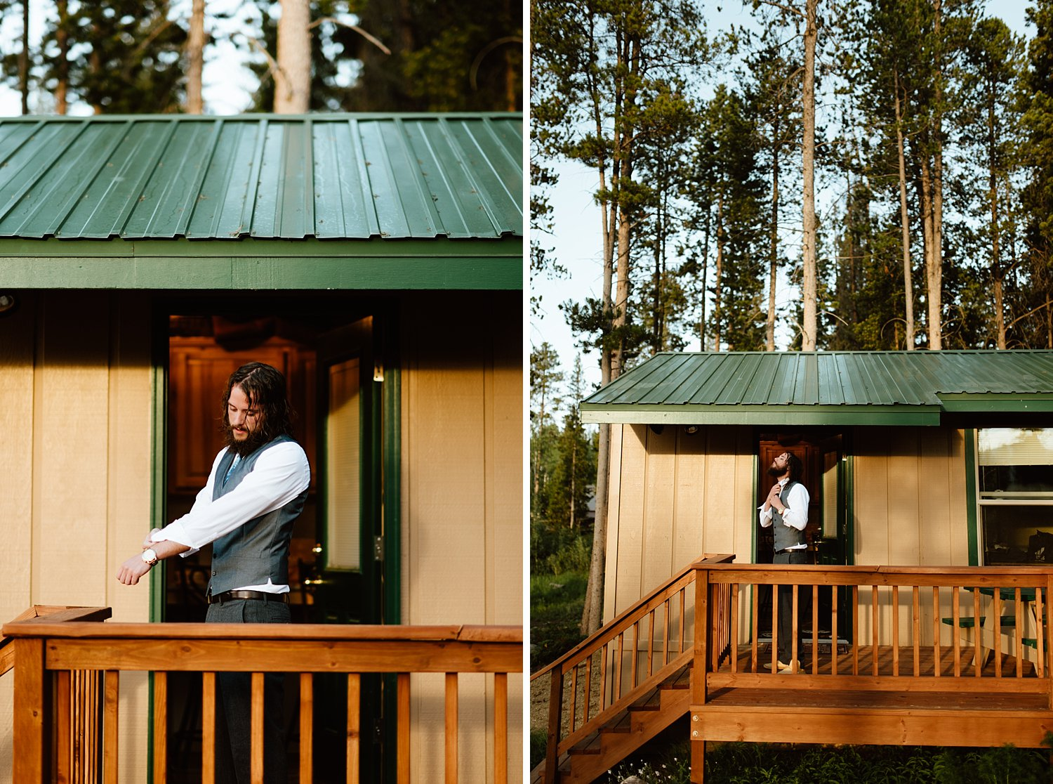 Absolutely love this cabin wedding in RMNP! | Rocky Mountain National Park elopement photos by Colorado elopement photographer, Maddie Mae.