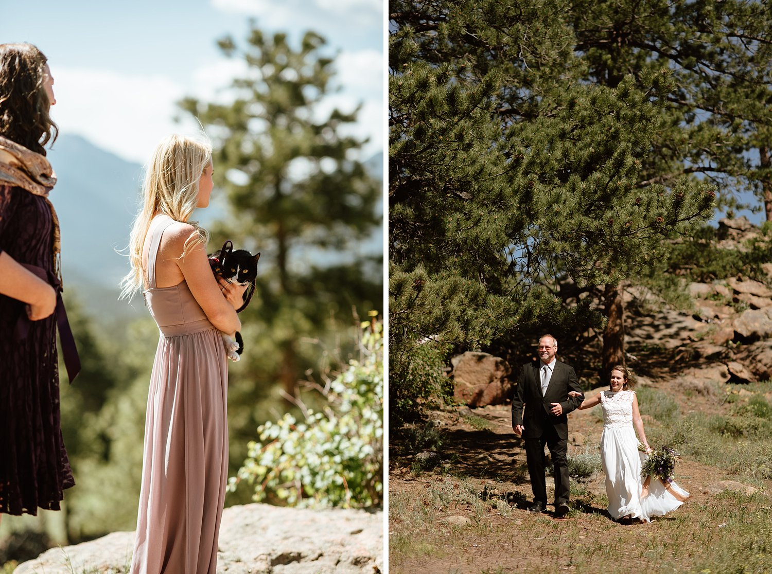 I love that even their cat exploration_cat Quandry was there to support Erin and Graham at their mountain elopement in RMNP! | Mountain elopement photos by Colorado adventure wedding photographer, Maddie Mae.