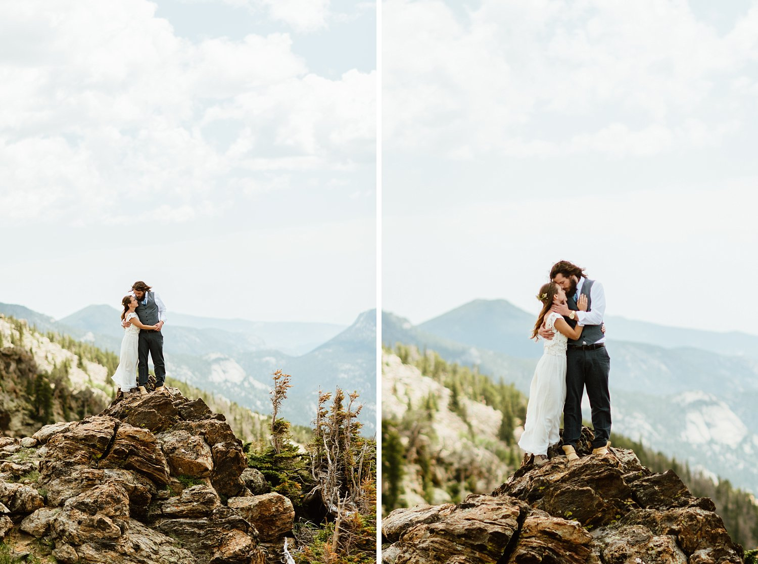 I can't wait to get married in RMNP after seeing how incredible Erin and Graham's wedding pictures turned out! | Rocky Mountain National Park elopement photos by Colorado hiking wedding photographer, Maddie Mae.