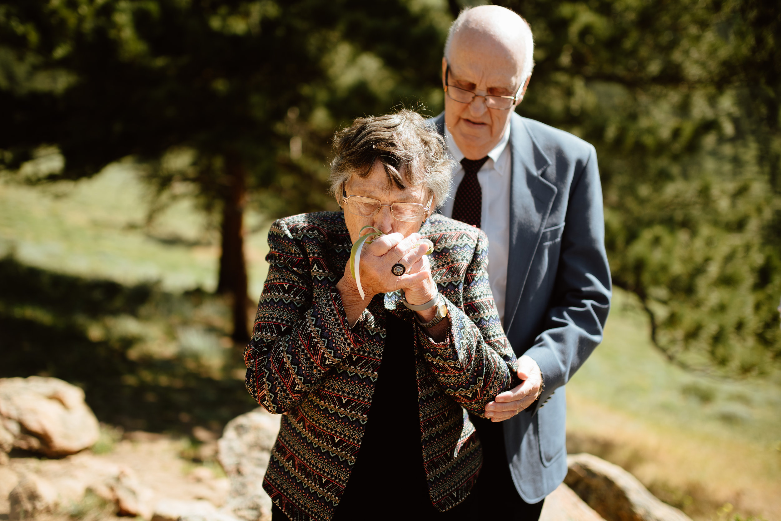 I love this ring warming ceremony! Such a beautiful tradition! | Mountain elopement photos by Colorado outdoor wedding photographer, Maddie Mae.
