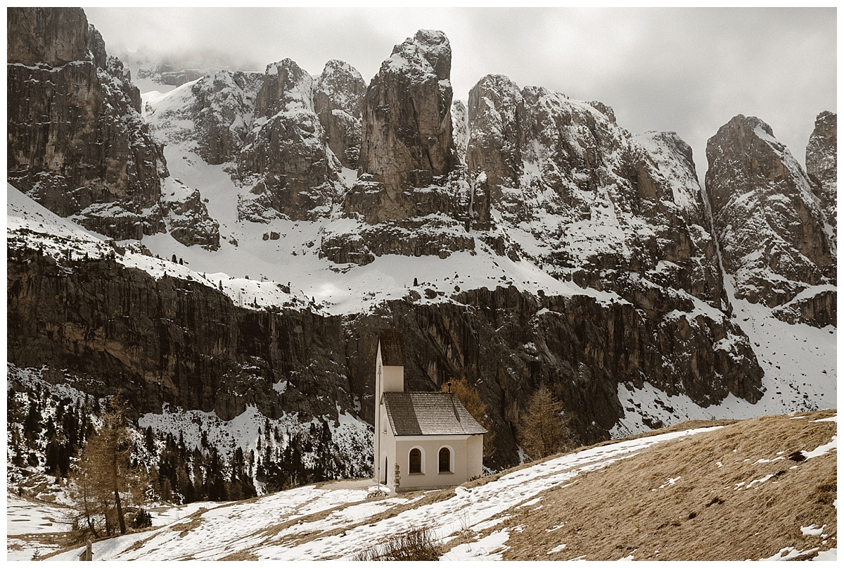 While most couples find themselves in a church or hall for their wedding ceremonies, these adventurous brides threw tradition to the wind and traveled to the Italian Dolomites for their intimate elopement with only their wedding photographer, Maddie Mae as their witness.