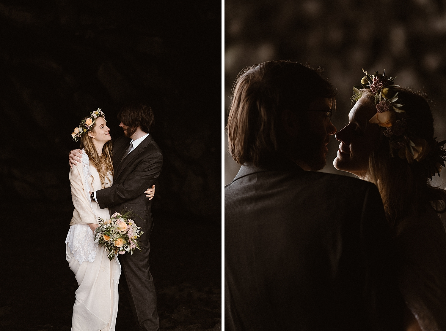 The lighting along Reynisdrangar beach set the tone for their moody intimate Iceland elopement. Photos of this epic Iceland elopement captured by traveling wedding photographer Maddie Mae.