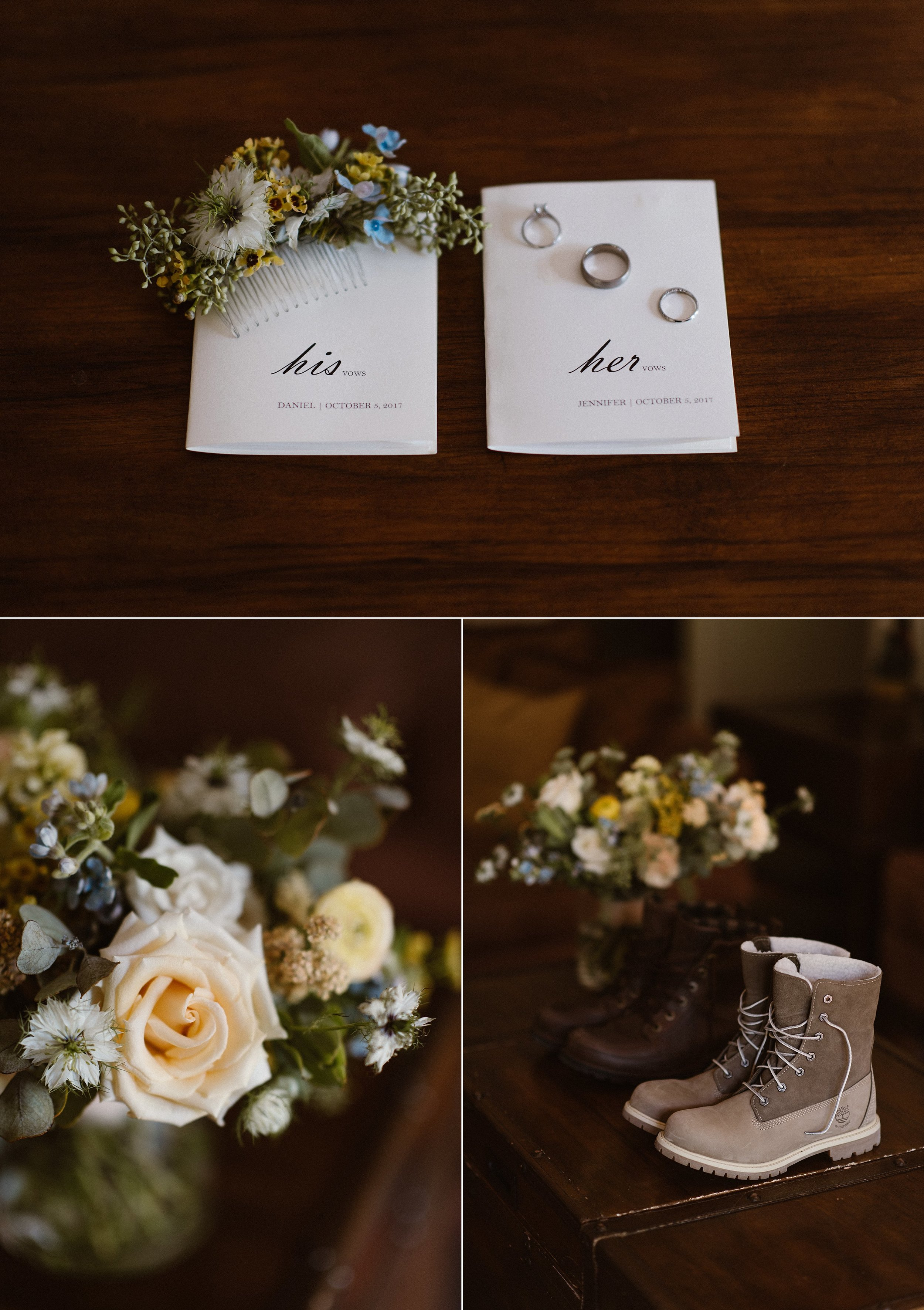 Jen and Dan got ready privately at a cabin before they adventured into the Ouray mountains in Colorado for their very private elopement - hiking through the tall grasses of Yankee Boy Basin with their traveling elopement photographer Maddie Mae.