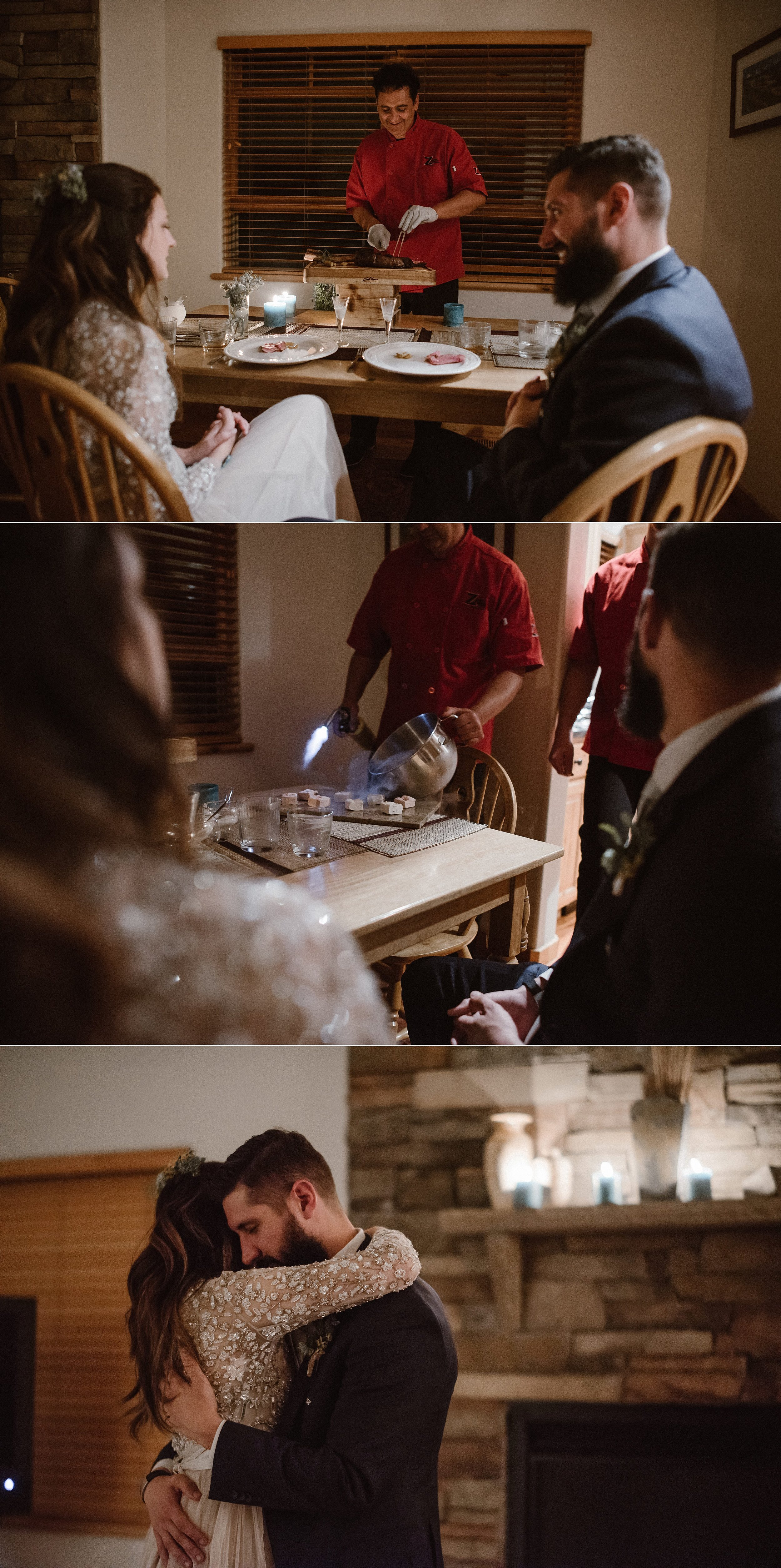 Ending their perfectly private elopement with an intimate first dance in the comfort of their own living room, with only their traveling elopement photographer Maddie Mae there to capture each sweet moment.