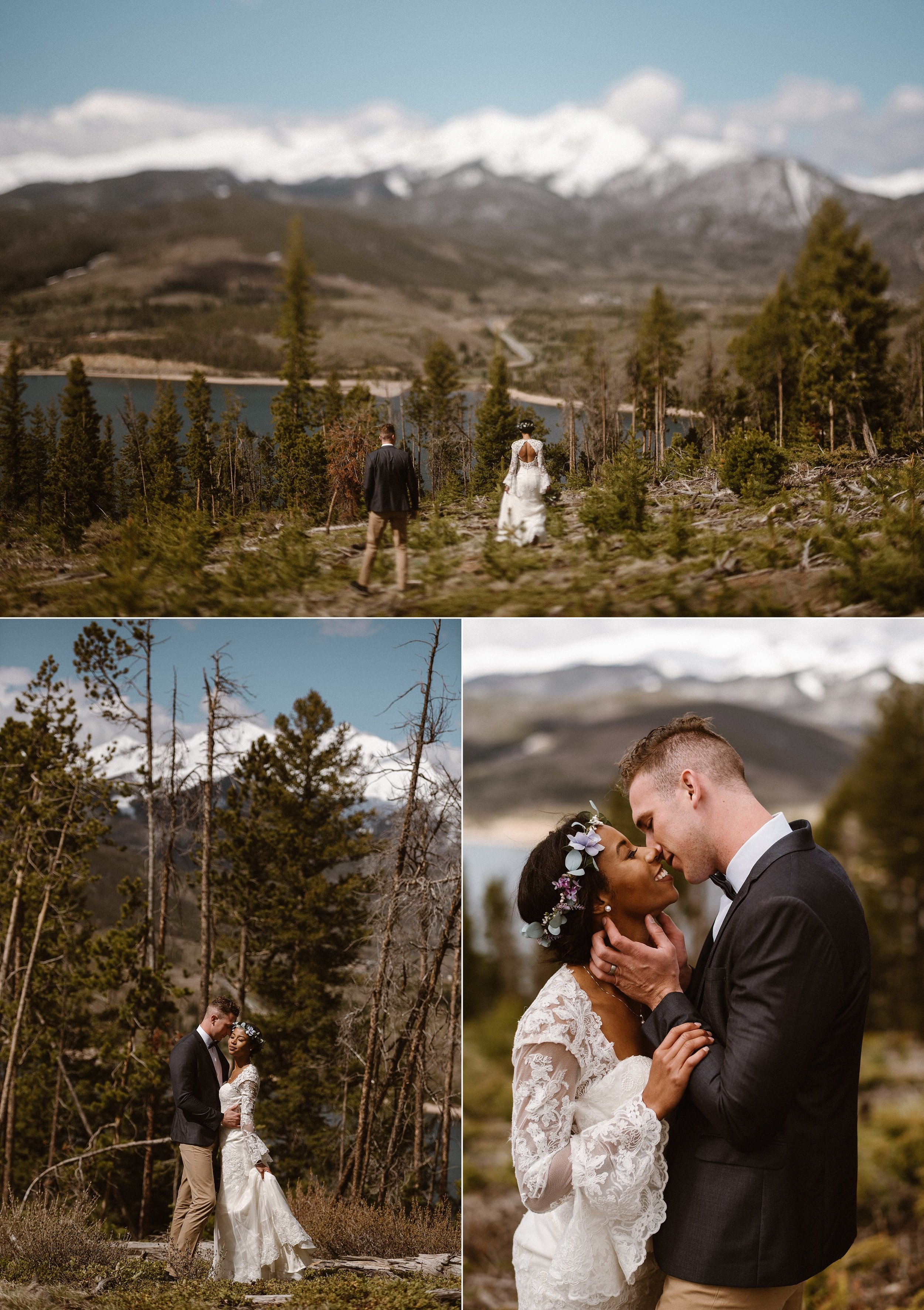 Their playful love, the kind that only photographs can try and explain radiated far beyond the Dillon reservoir where they continued their adventure filled elopement with intimate wedding photographer Maddie Mae in tow.