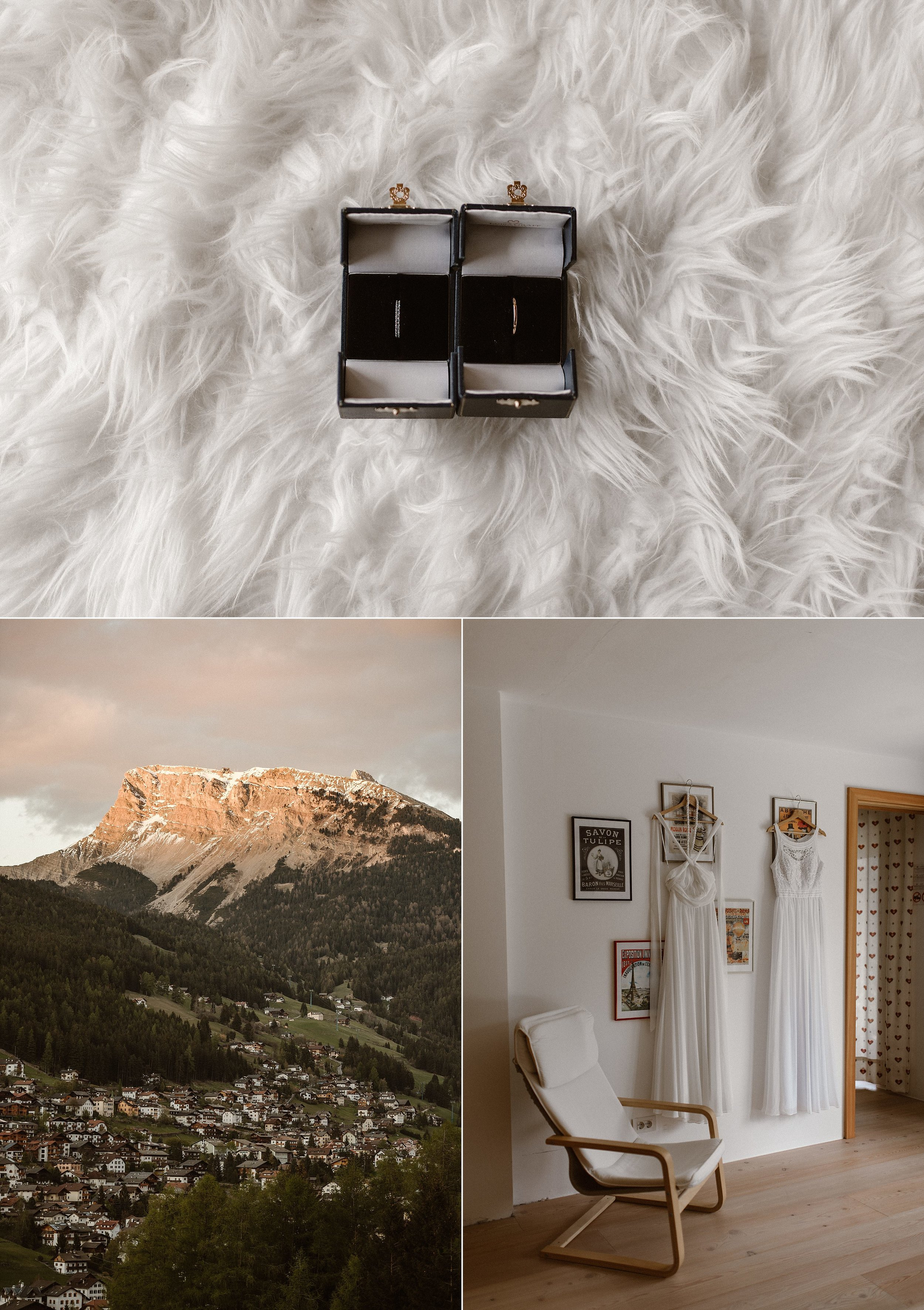 Their simple wedding bands, a symbol of their eternal love, were some of the only details that these ladies brought for their adventurous mountain elopement in the Italian Dolomites.