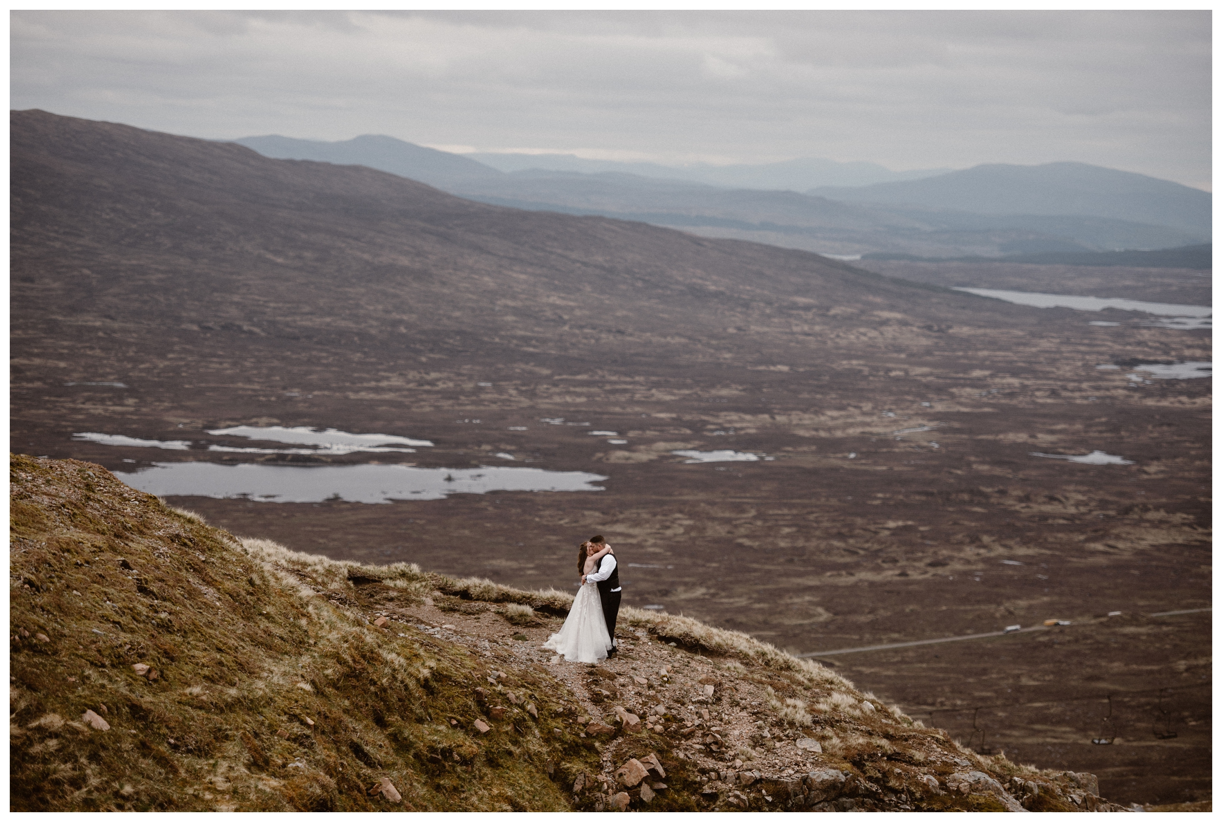 Elissa and Daniel planned a road trip through the Scottish Highlands on the day of their elopement to experience some place new on their wedding day. Photo by Maddie Mae, Adventure Instead.
