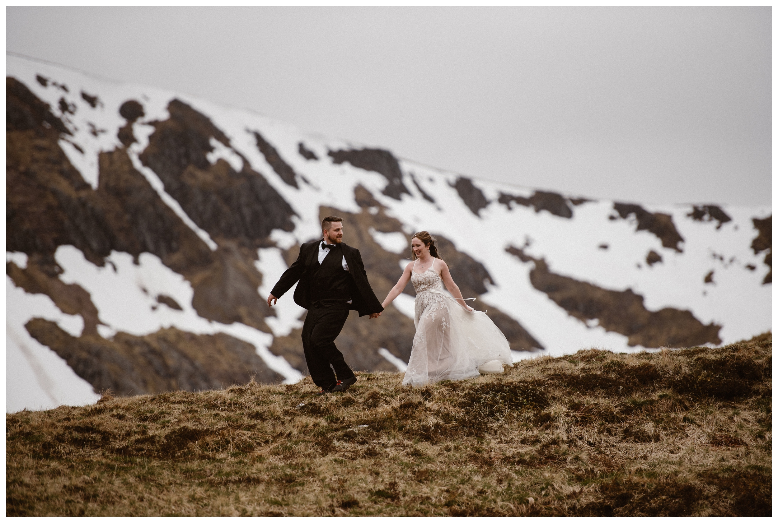 Early May is a great time to travel to Scotland and explore the Scottish Highlands, as Elissa and Daniel did for their adventure elopement. Photo by Maddie Mae, Adventure Instead.