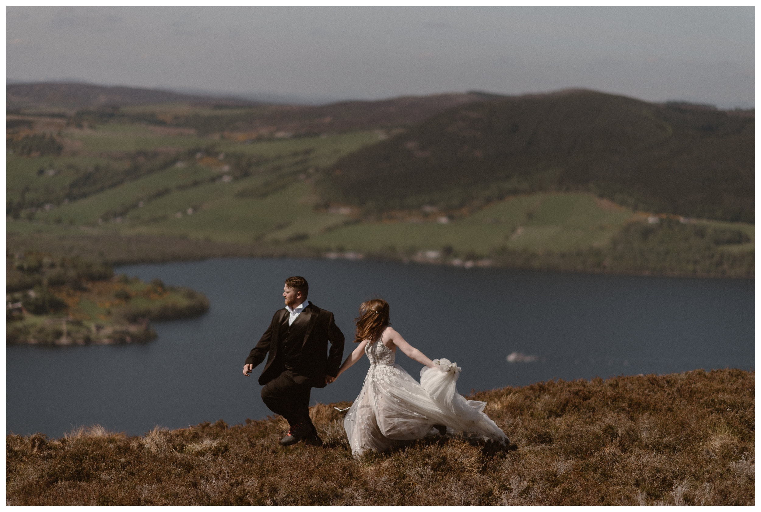 Elissa and Daniel love to explore together as a couple so traveling to the Scottish Highlands for their elopement ceremony made perfect sense for them. Photo by Maddie Mae, Adventure Instead.