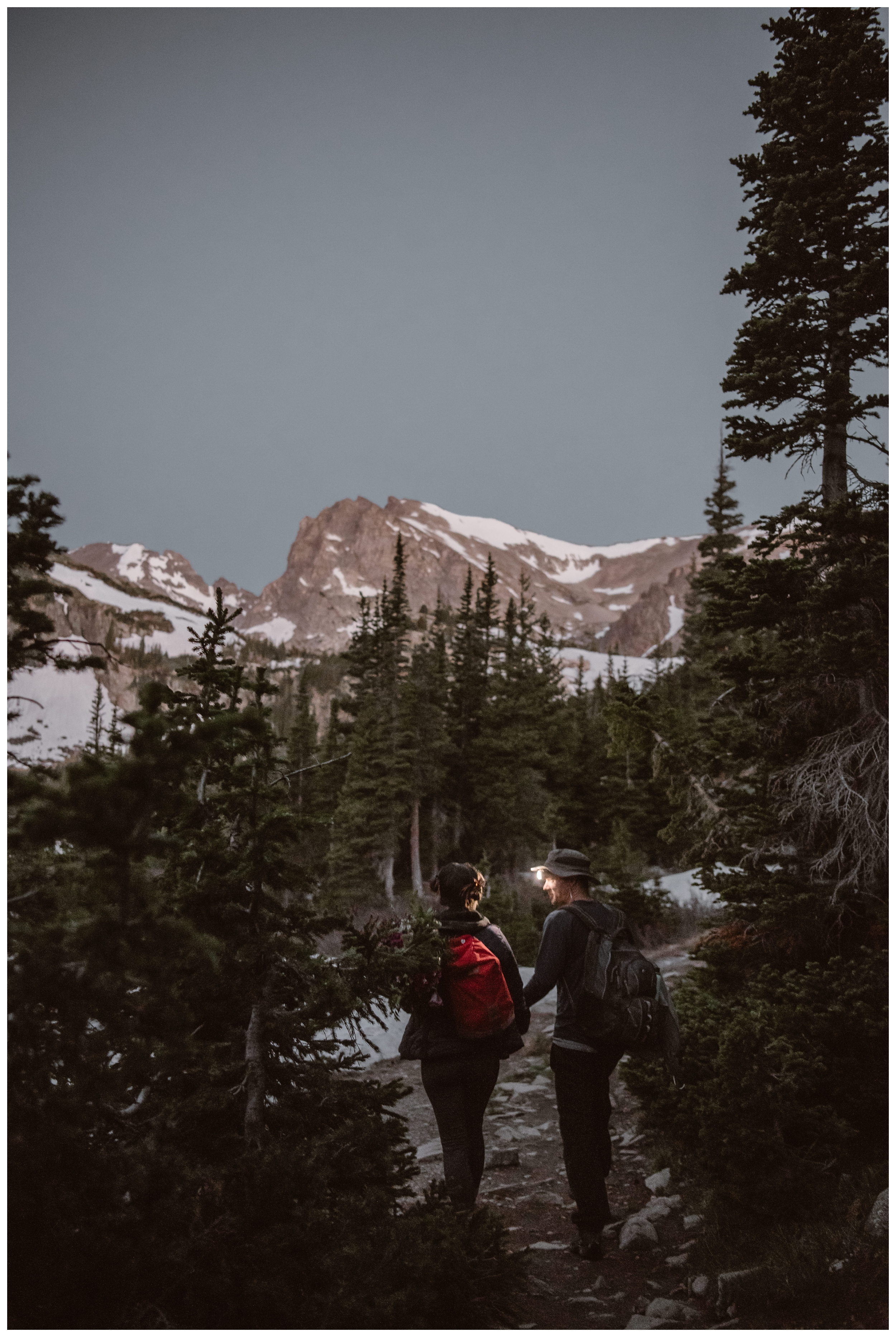 Karen and Matt originally wanted to elope at Rocky Mountain National Park but RMNP doesn't allow hiking elopements anymore. So they settled on Lake Isabelle. Photo by Adventure Instead, Maddie Mae.