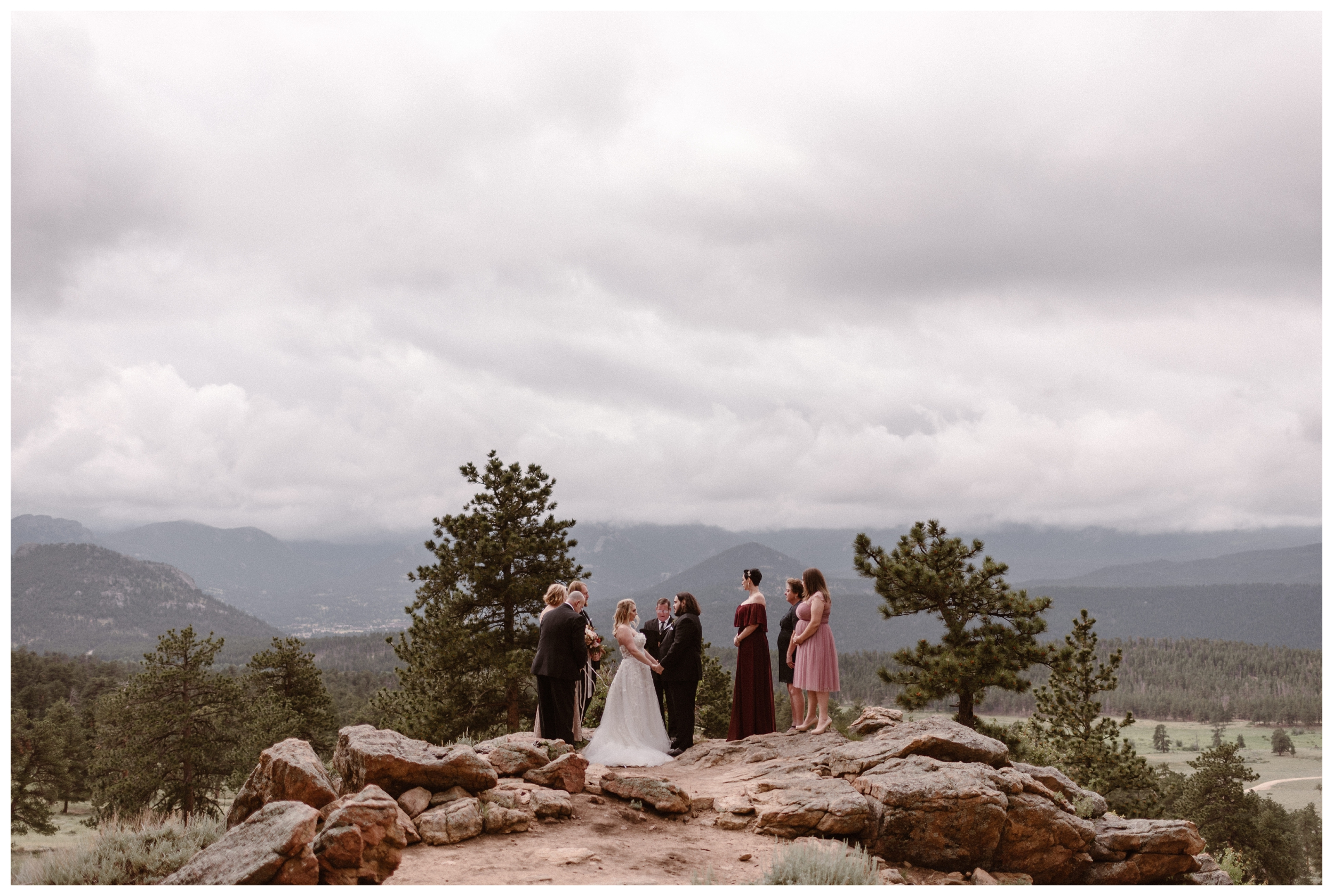 Surrounded by the Rocky Mountains, Alicia and Zach chose to elope at Rocky Mountain National Park in Estes Park, Colorado. Photo by Adventure Instead, Maddie Mae.