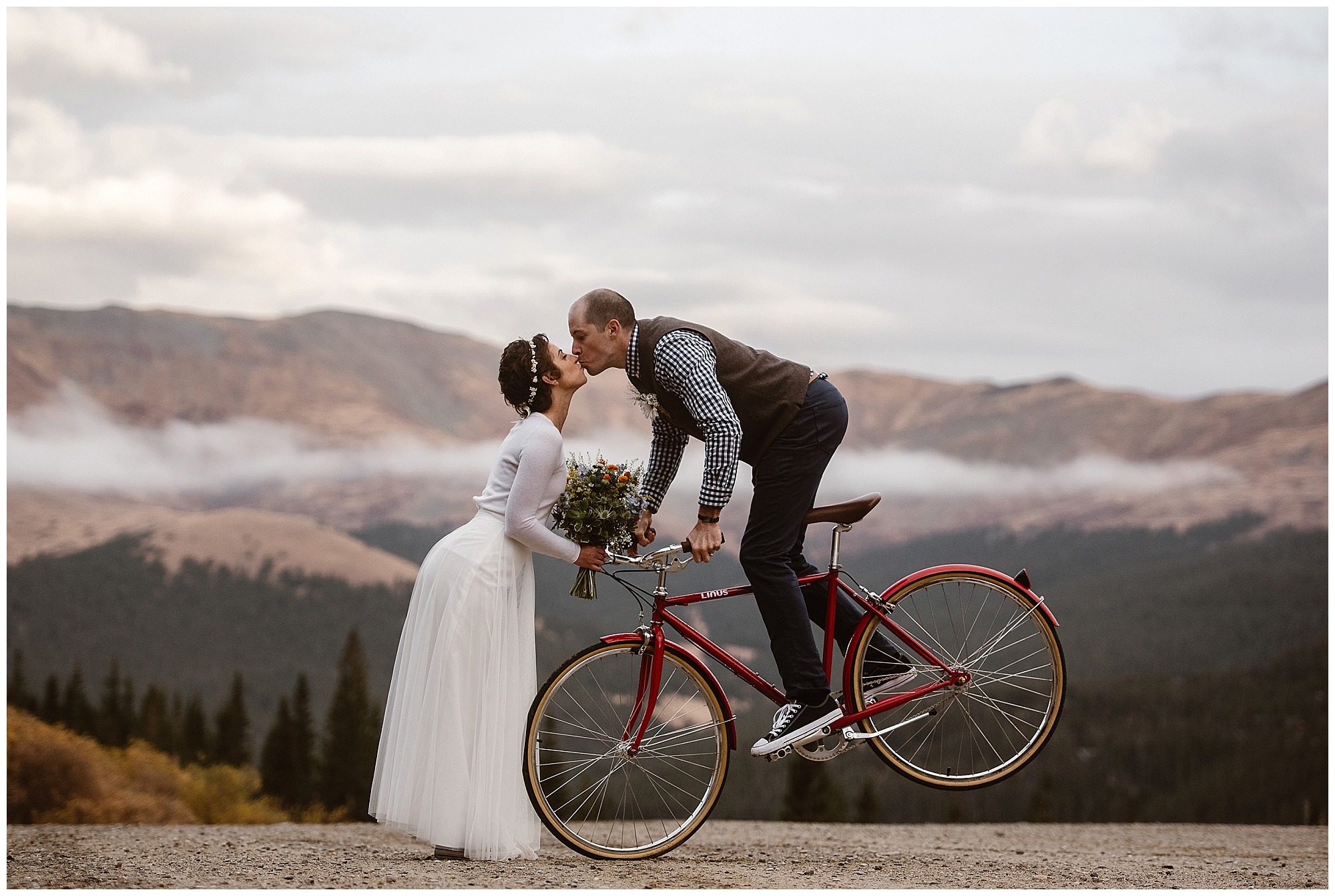 An elopement allows you the freedom to add in elements of your personality to your wedding day, like this couple. Where you elope and how you say your vows matters! Photo by Maddie Mae, Adventure Instead Elopement Photographers.