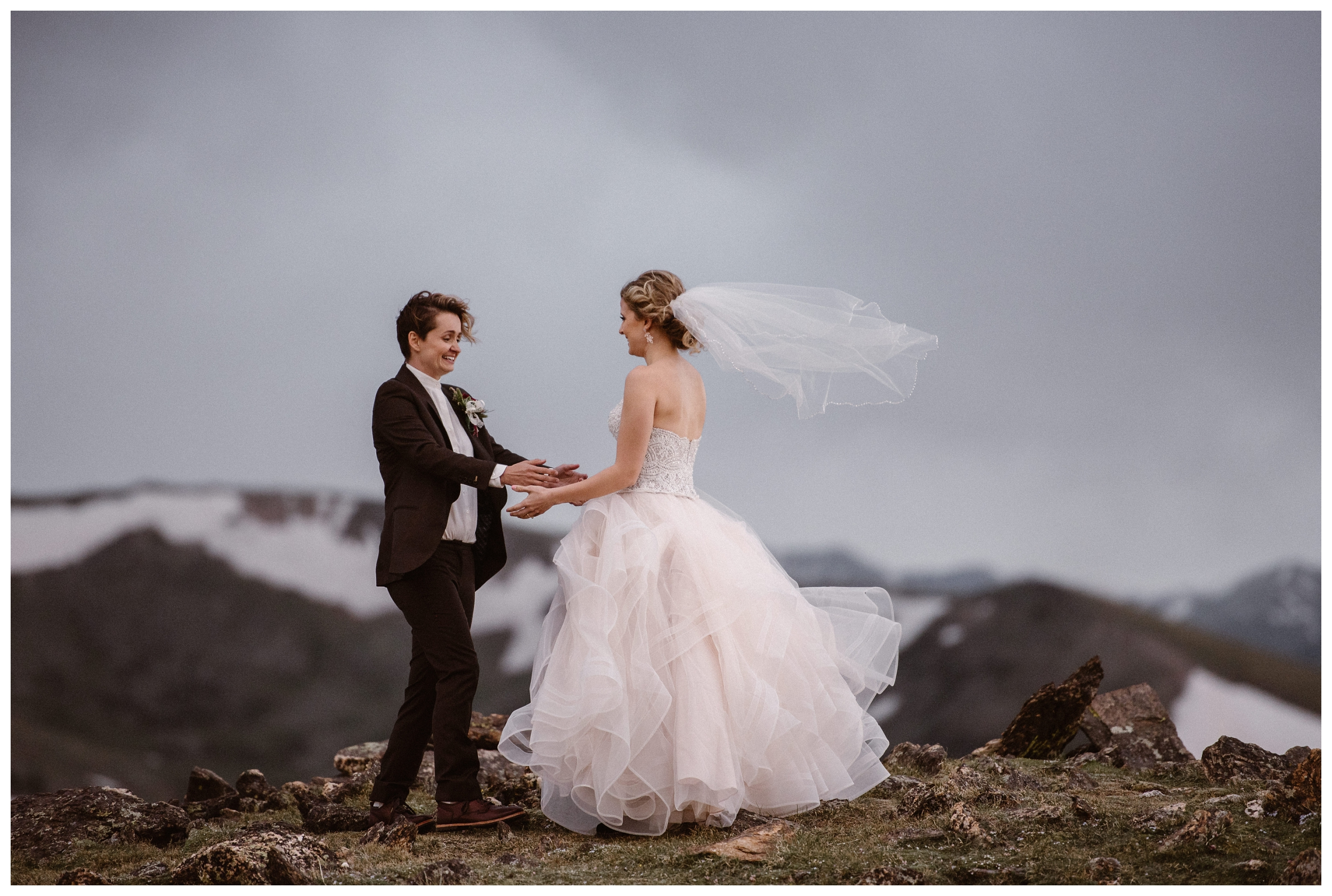 Embrace your partner and all the emotions that come with a wedding day during your elopement. Where you elope and how you say your vows matters! Photo by Maddie Mae, Adventure Instead Elopement Photographers.