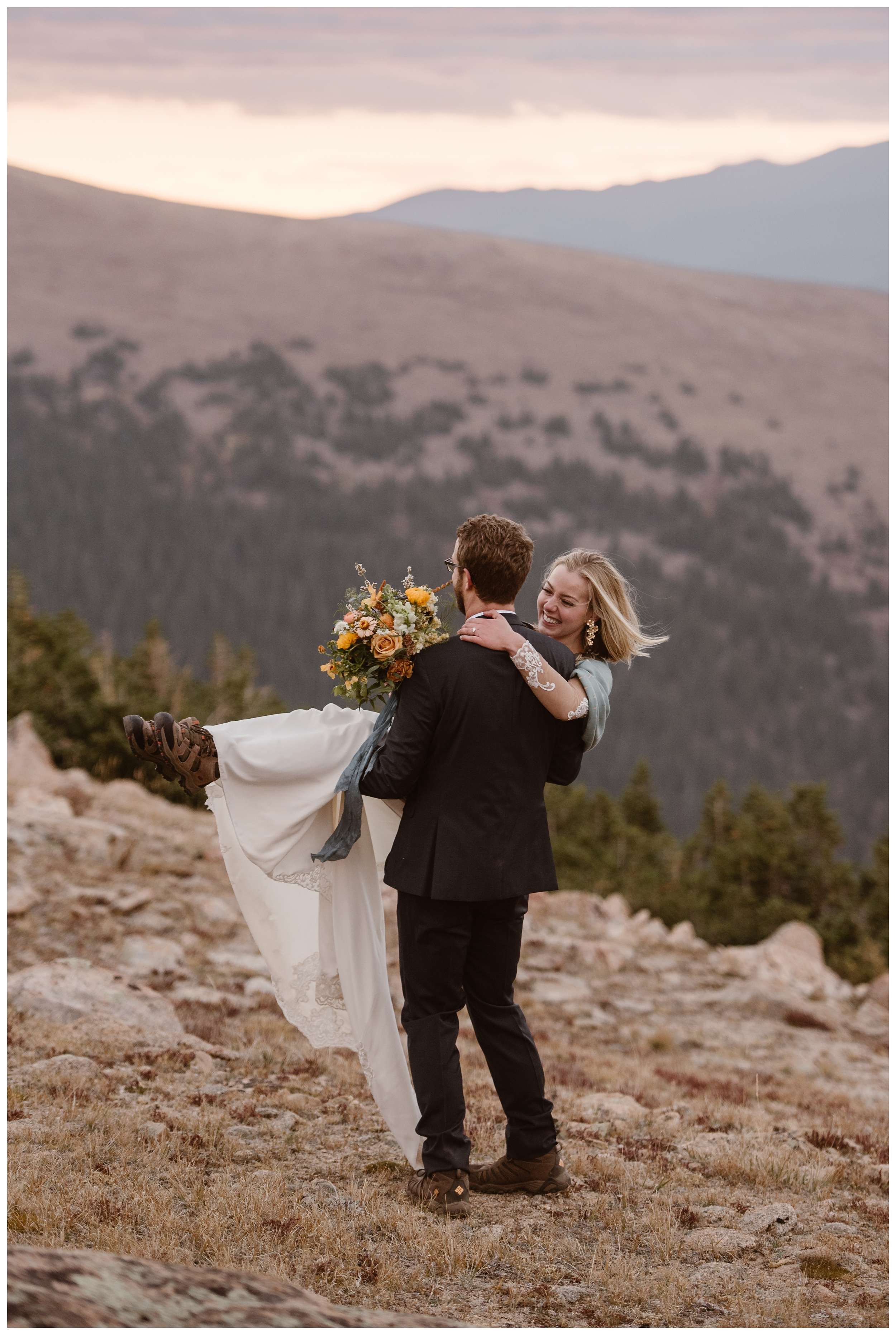 Embrace each other freely during your elopement day! Where you elope and how you say your vows matters! Photo by Maddie Mae, Adventure Instead Elopement Photographers.