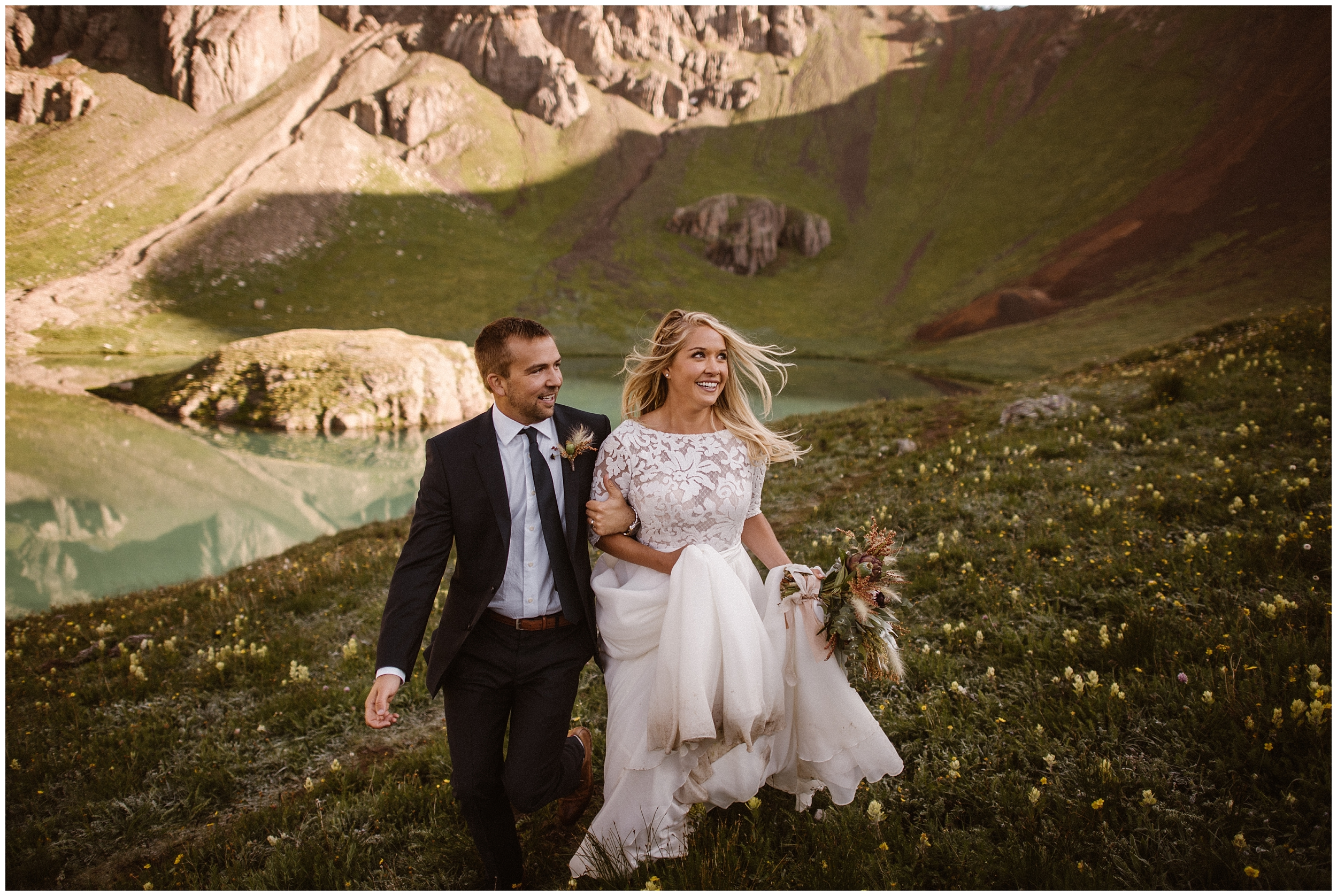 Having the destination elopement of your wildest dreams in the best places to elope can totally happen for you—and doing it while abiding by the Leave No Trace Principles is totally possible, too! These elopement photos were captured by Adventure Instead, an elopement wedding photographer.