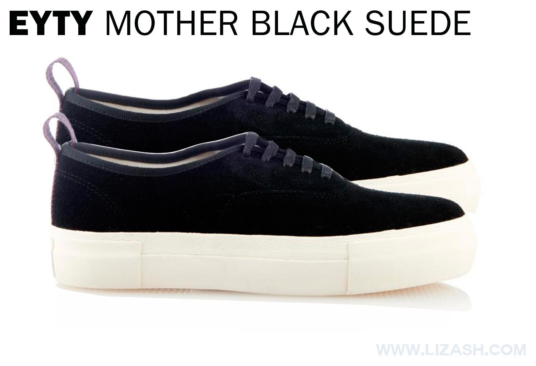 EYTYS MOTHER BLACK SUEDE LOW TOPS