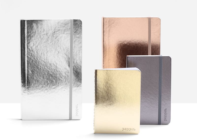 METALLIC NOTEBOOKS - These metallic journals make me happy. I always use tabs on mine to separate the different projects I am working on. You could also separate by client. Whatever suits your business.
