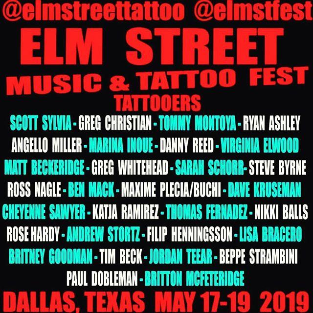 @steve_byrne_tattoo & @katjaramirez booking now for #dallas #elmfest...DM for availability or call the shop 5128041213 @elmstfest