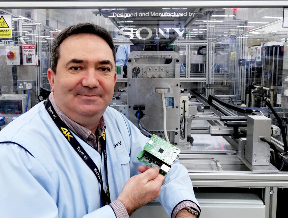 """""""It's made us more competitive."""" Kevin Edwards has installed around 60 Raspberry Pi's around Sony's manufacturing facility in Wales and says it became 30% more efficient."""
