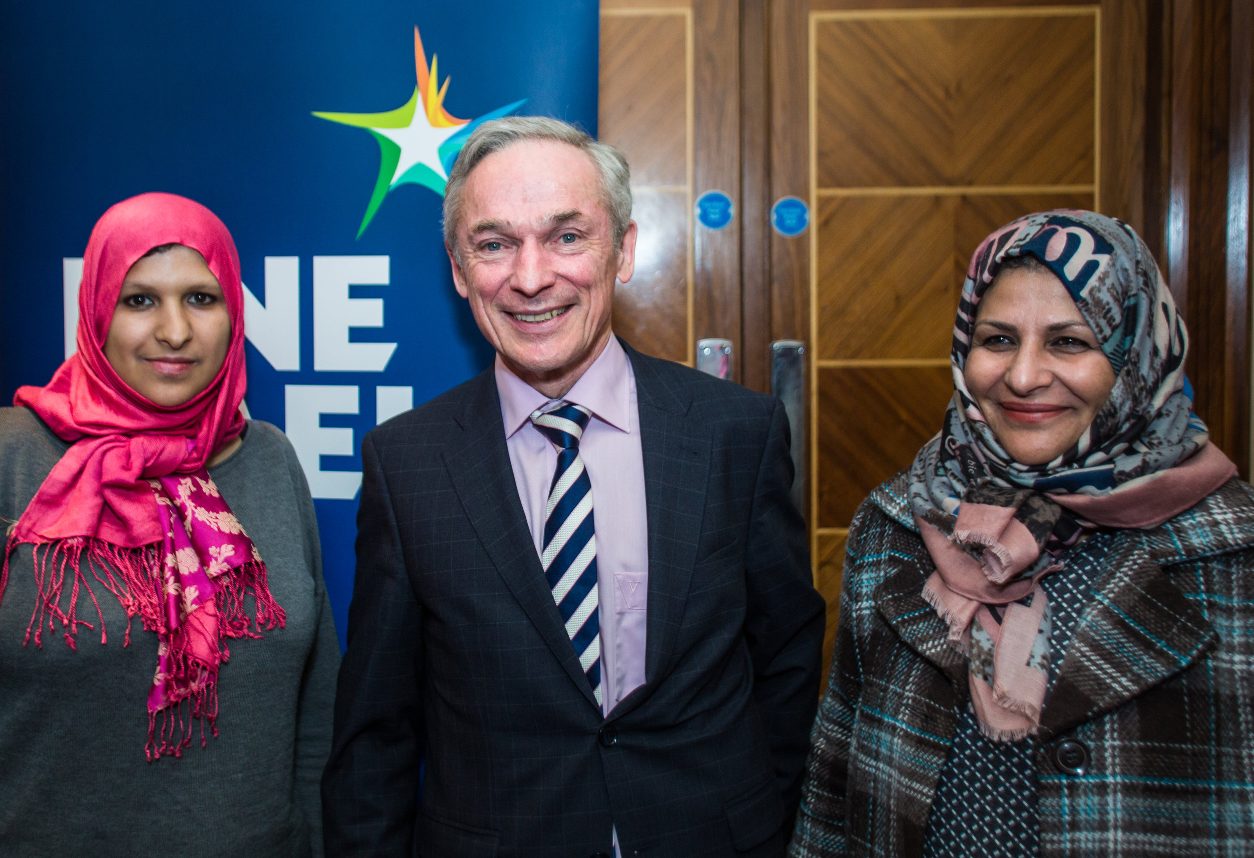 Forum members with Minister Bruton at the  launch of Fine Gael Intercultural, Feb.2017.jpg