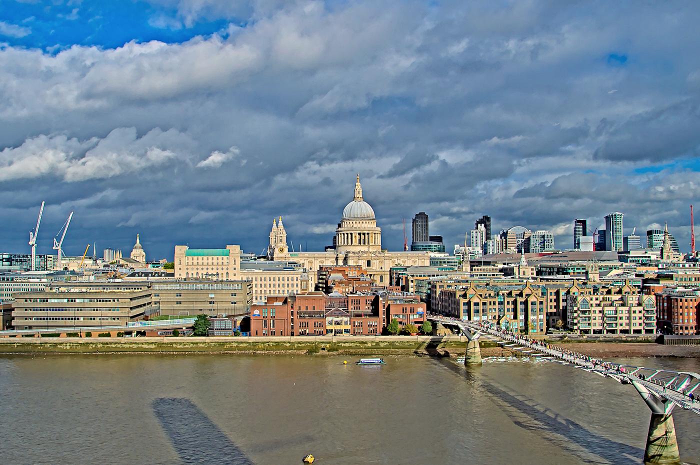 Vistas desde la cafeteria Tate Modern