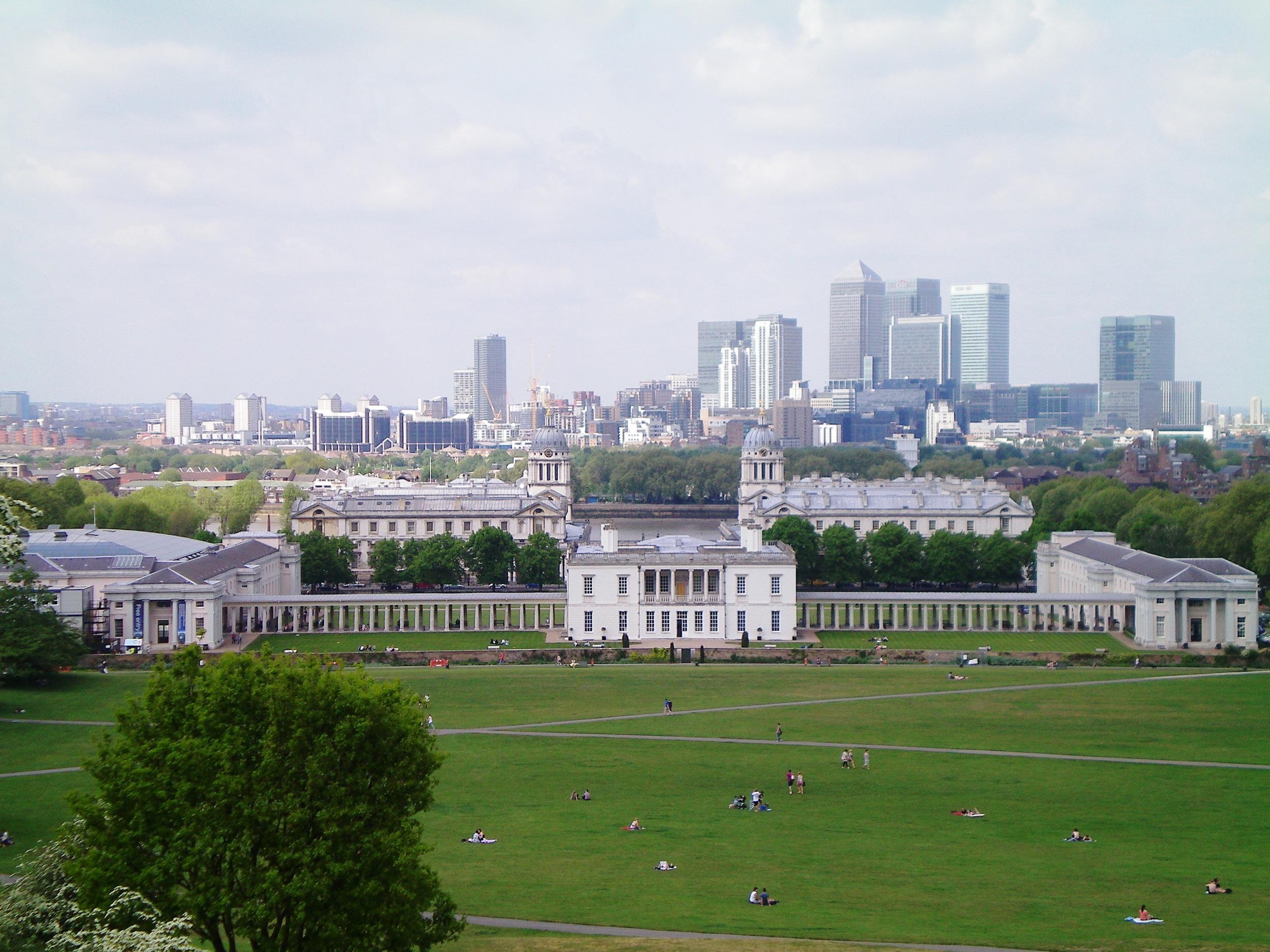 Vistas desde el Real Observatorio Astronómico de Greenwich